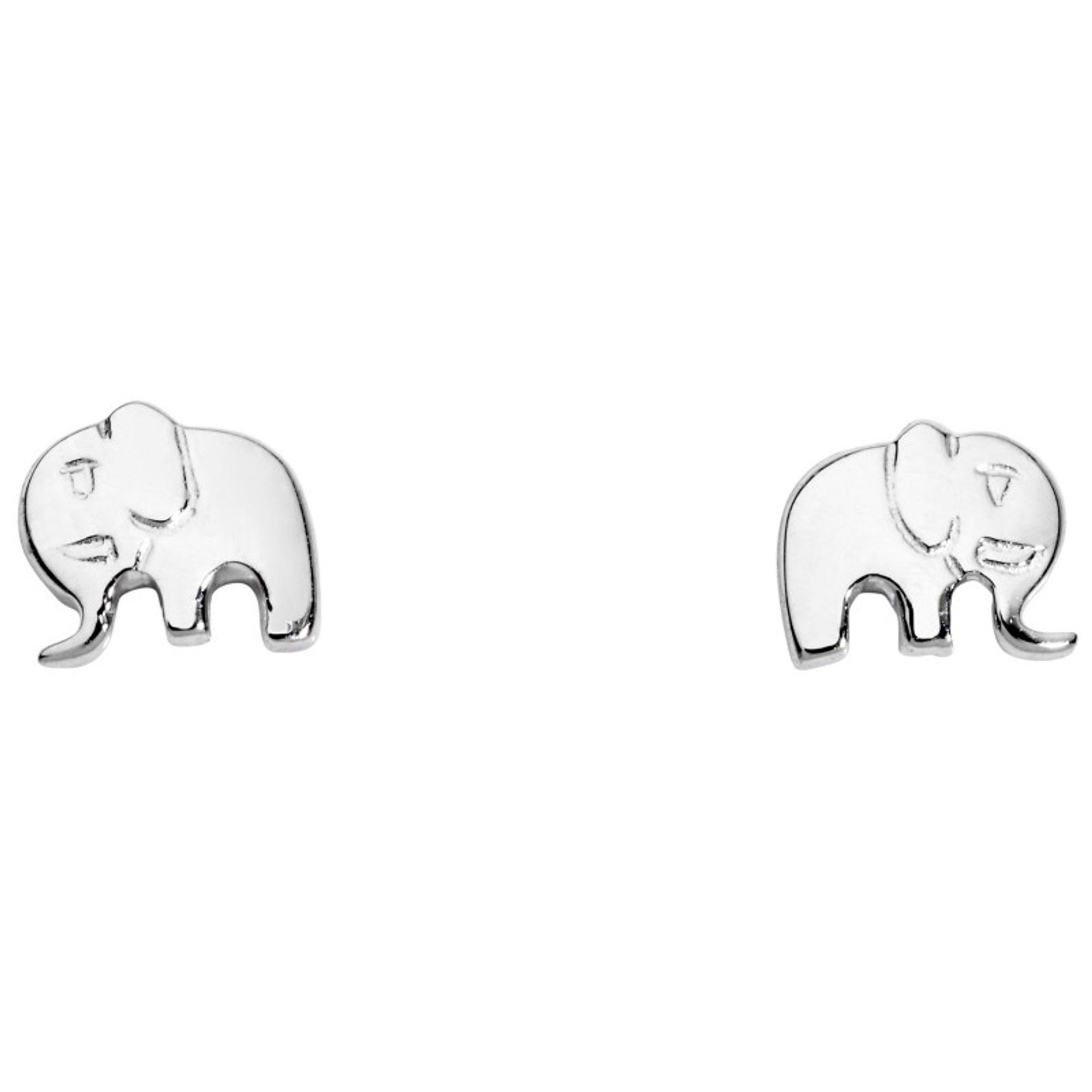 Basic Silber SK42 Kinder Ohrschmuck Elefant Silber Kinderschmuck