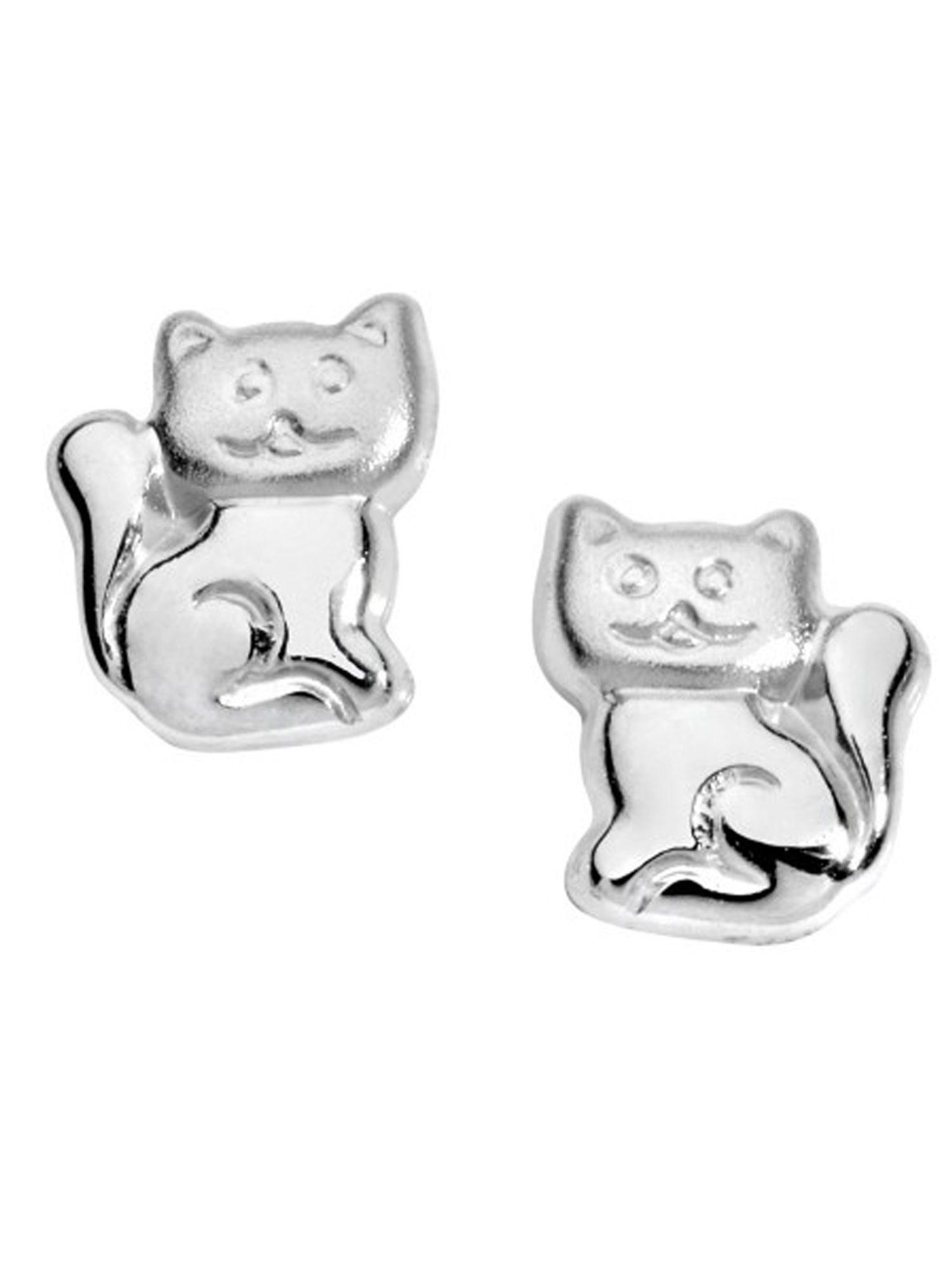 Basic Silber SK43 Kinder Ohrschmuck Katze Silber Kinderschmuck