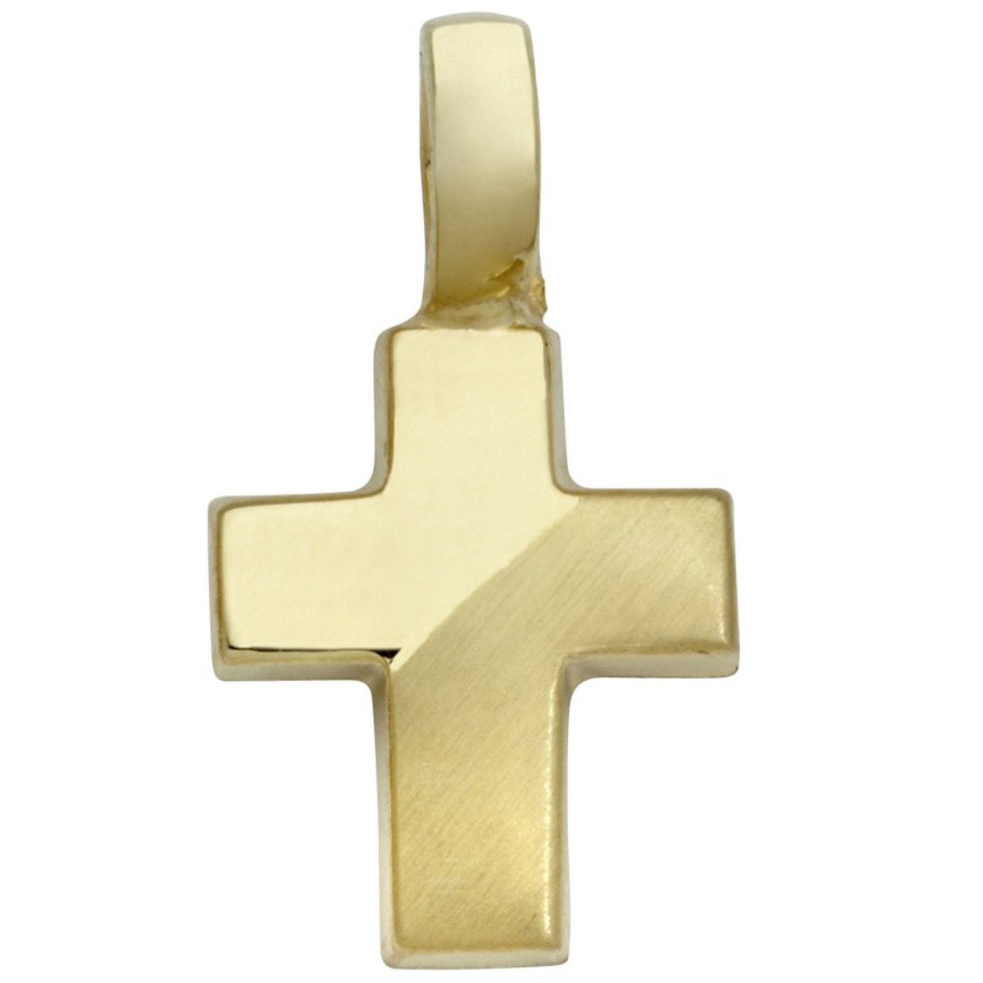 Basic Gold TG16 Kinder Anhänger Kreuz 14 Karat (585) Gelbgold