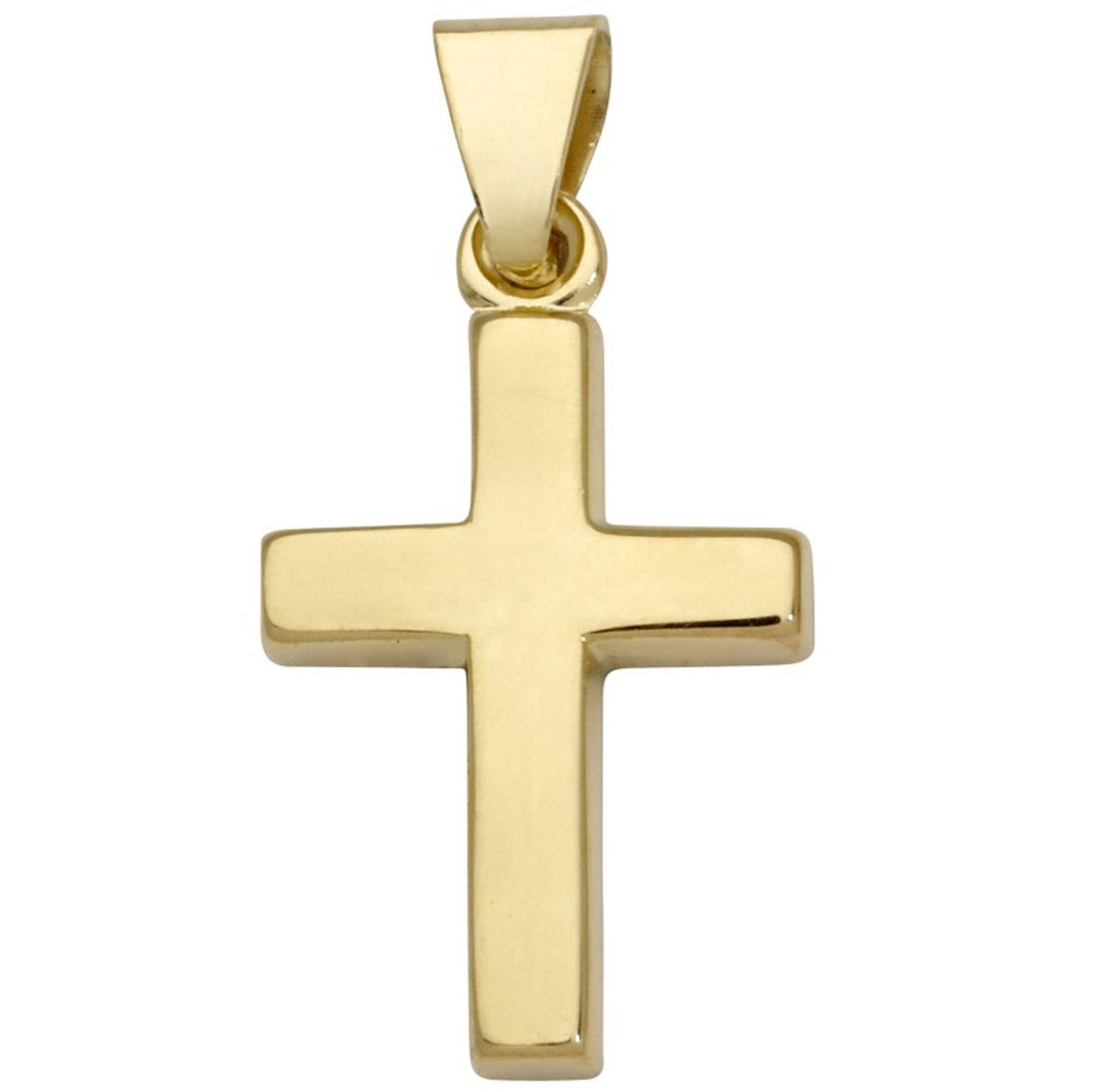 Basic Gold TG04 Kinder Anhänger Kreuz 14 Karat (585) Gelbgold
