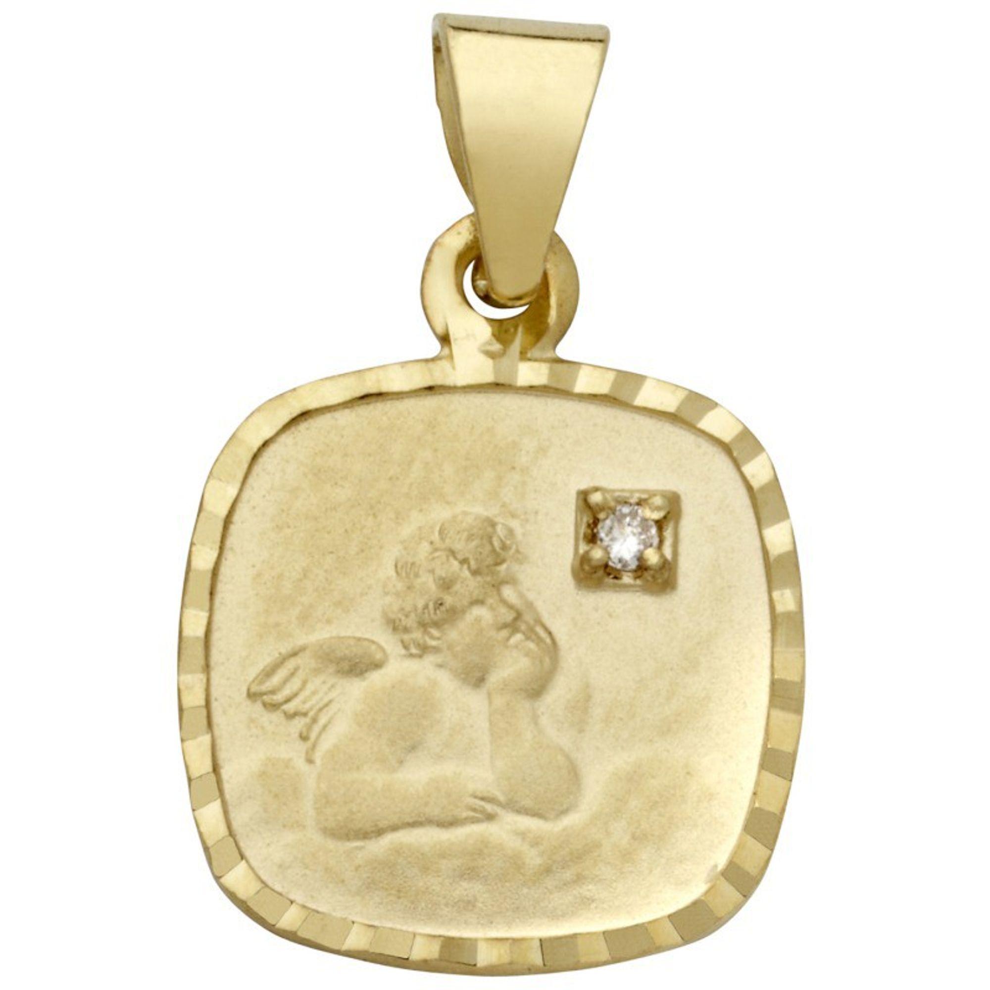 Basic Gold EN23 Kinder Anhänger Schutzengel 14 Karat (585) Gold