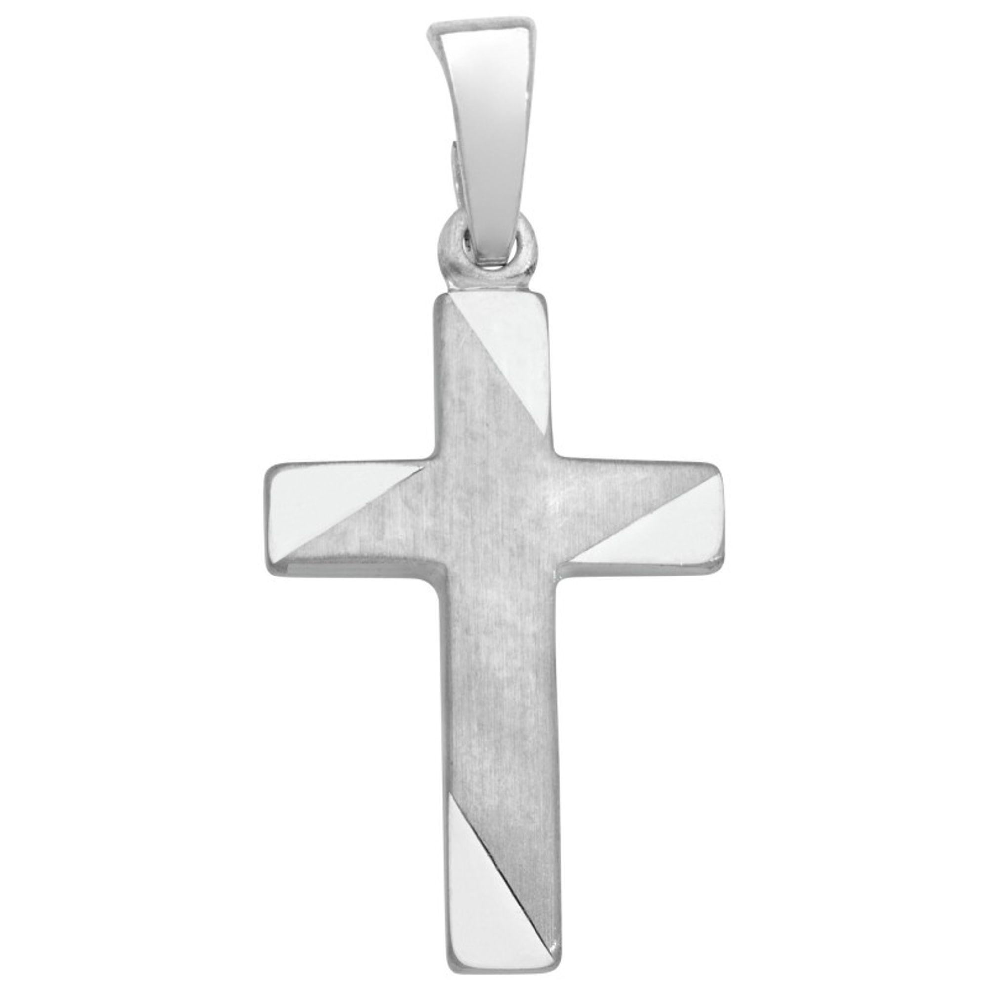 Basic Silber SKE15 Kinderschmuck Anhänger Kinder Kreuz Silber