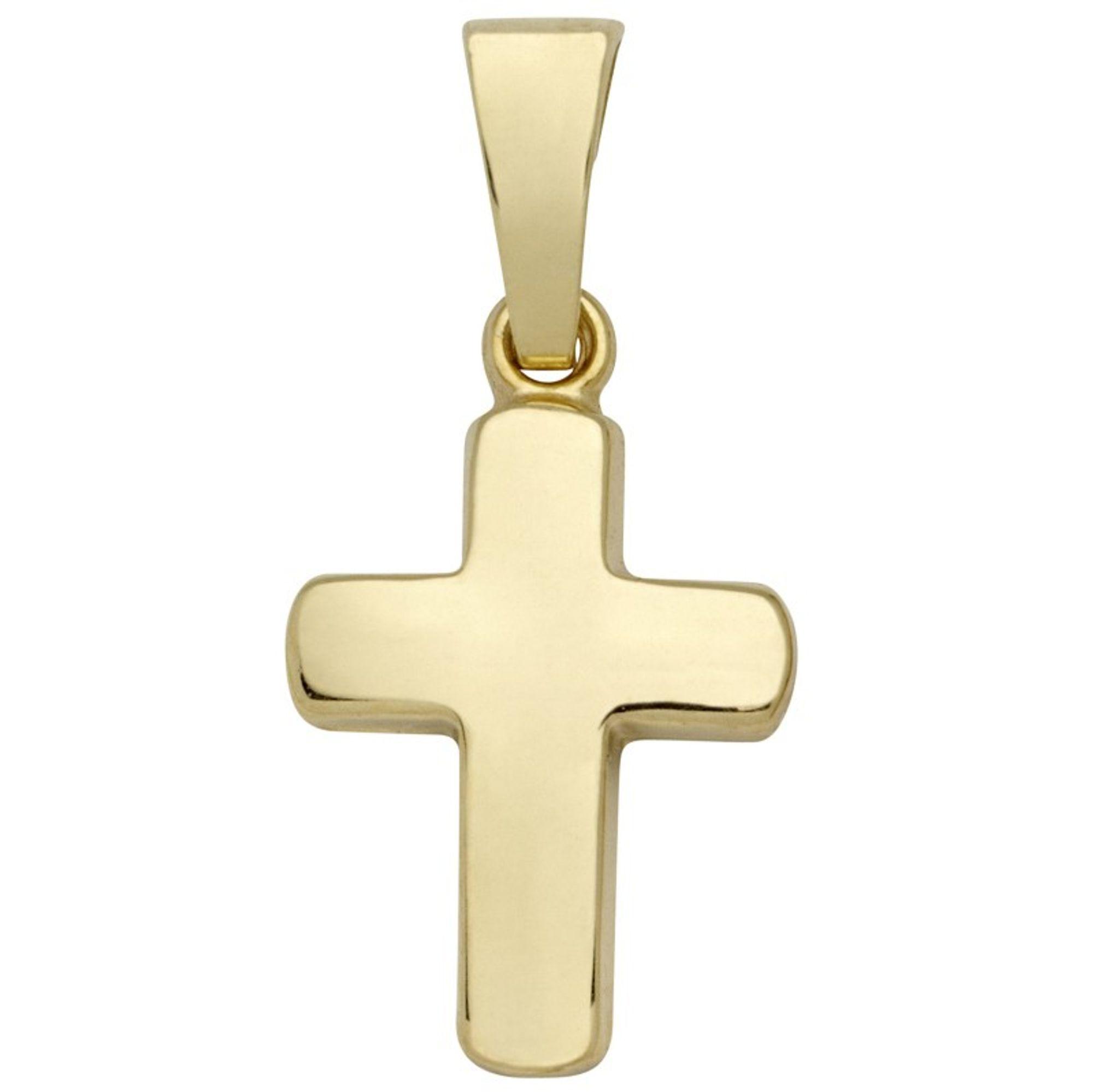 Basic Gold K28 Kinder Anhänger Kreuz 14 Karat (585) Gelbgold