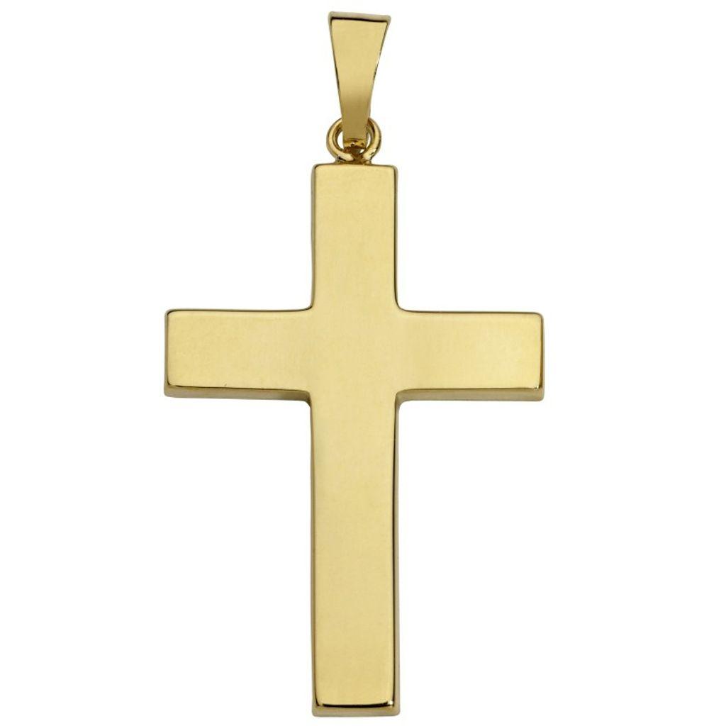 Basic Gold K09 Herren Anhänger Kreuz 14 Karat (585) Gelbgold