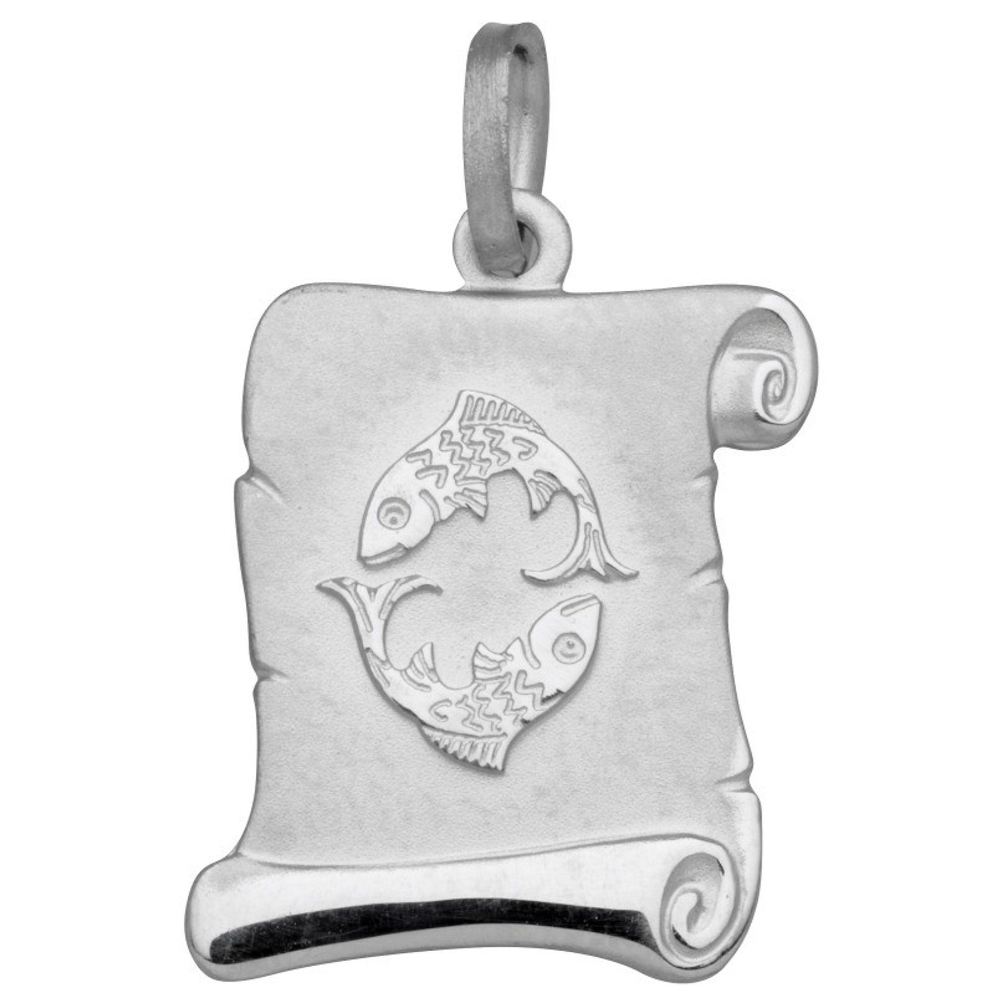 Basic Silber SZ203 Damen Anhänger Sternzeichen Fische Silber