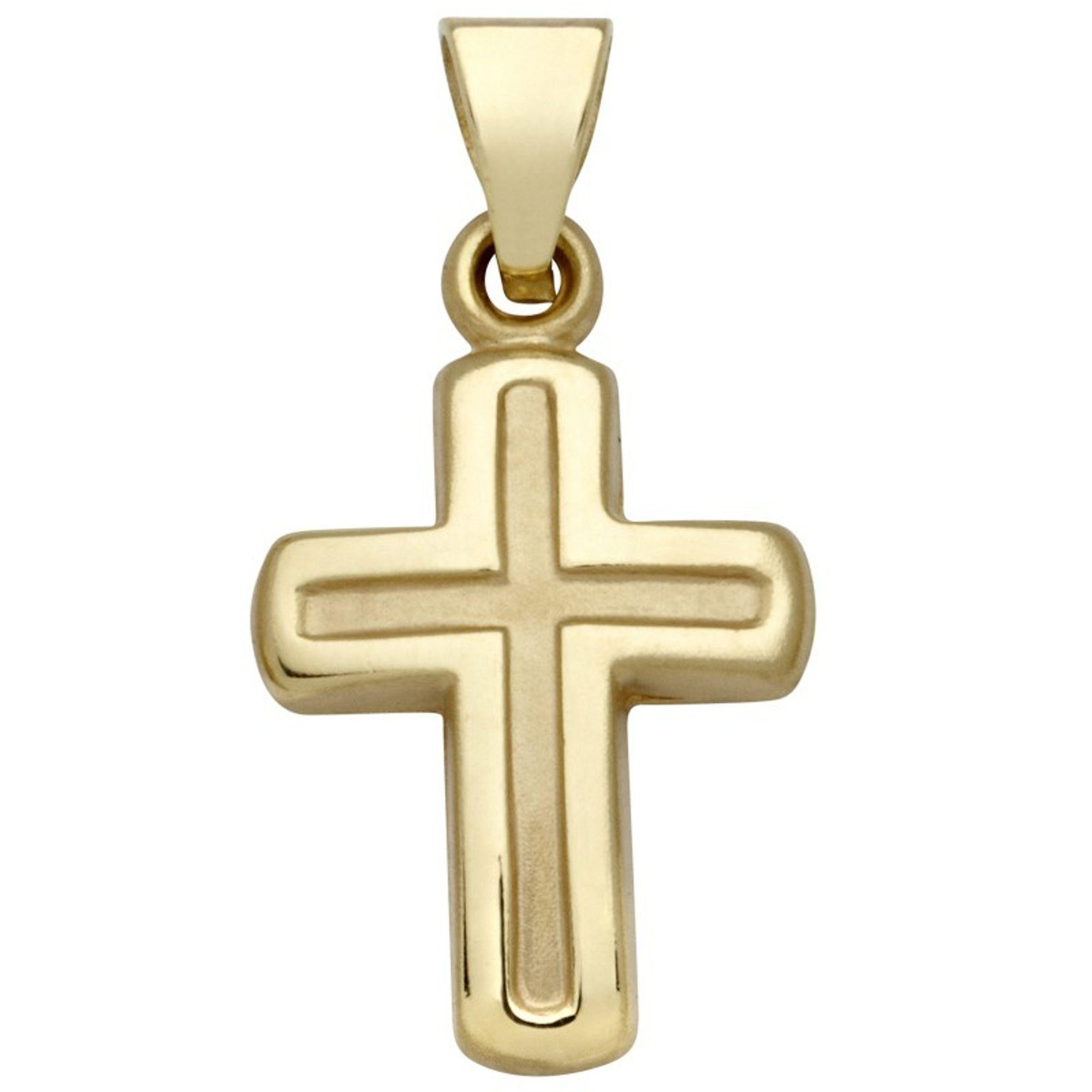 Basic Gold K29 Kinder Anhänger Kreuz 14 Karat (585) Gelbgold