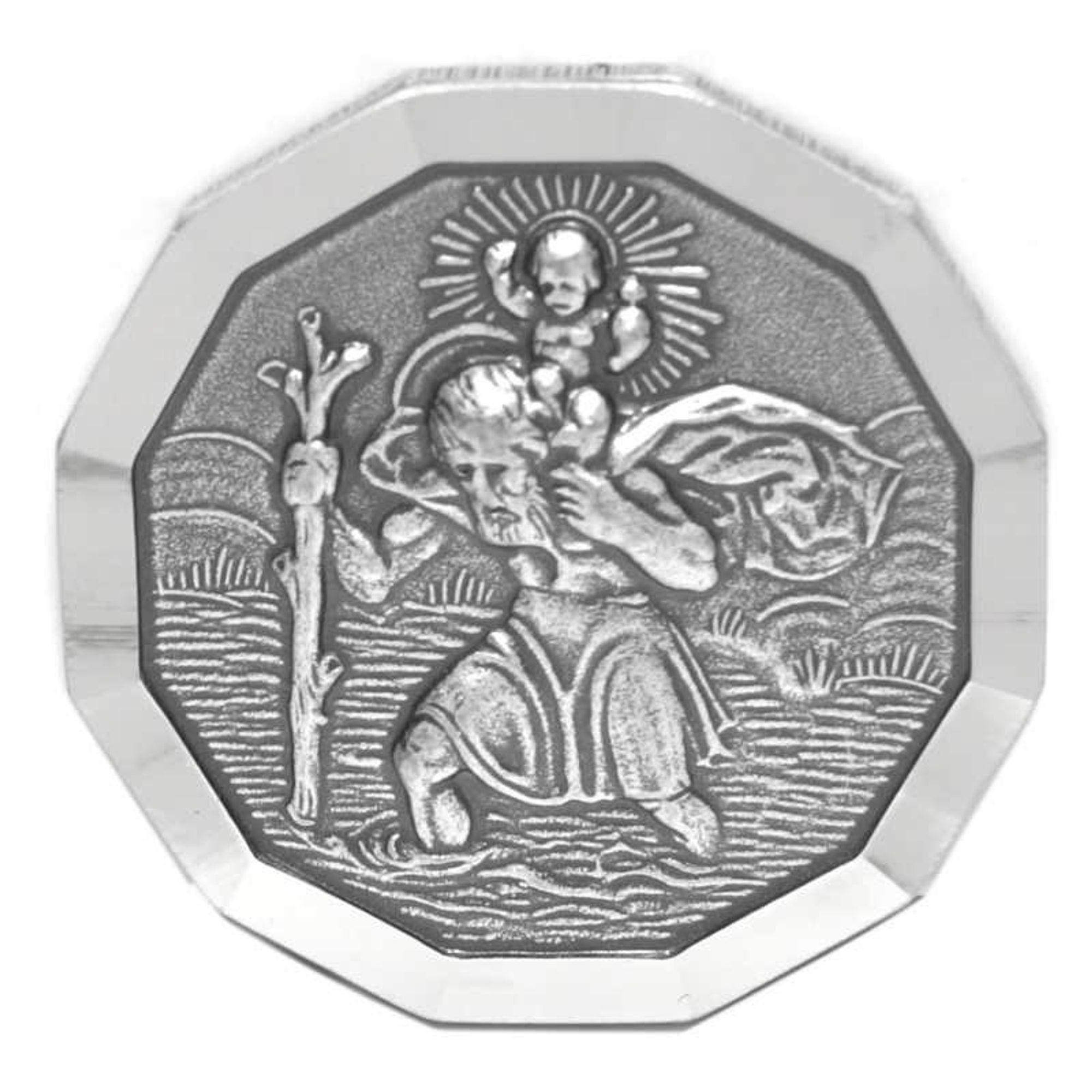 Basic Silber ALP05 Herren Autoplakette Heilger Christopherus