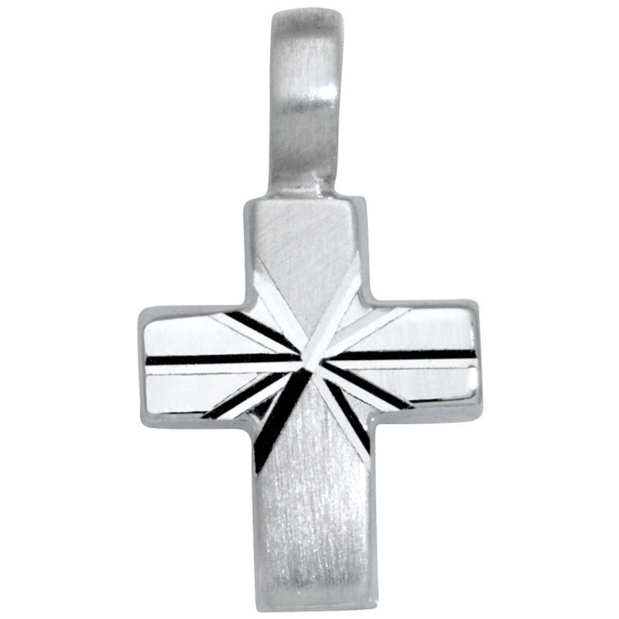 Basic Silber SKE08 Kinder Anhänger Kreuz Silber Kinderschmuck