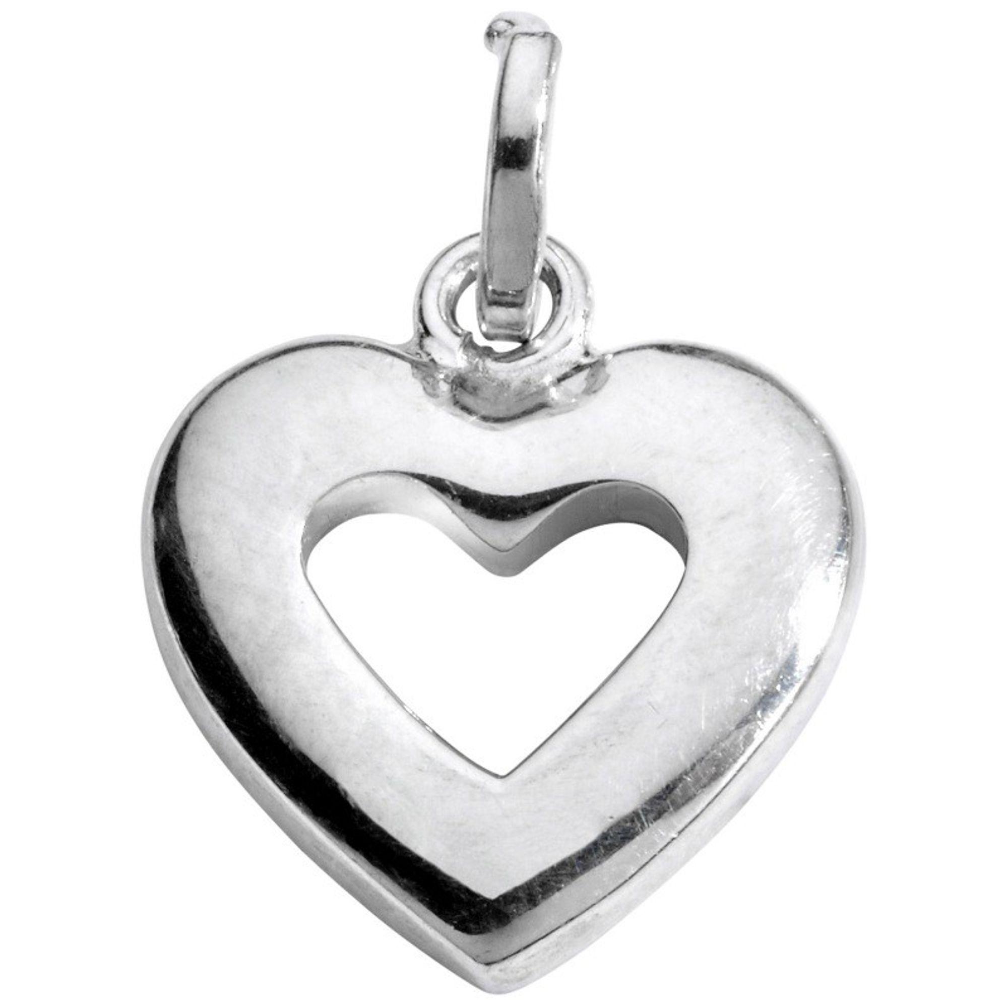 Basic Silber SL26 Damen Anhänger Herz Silber