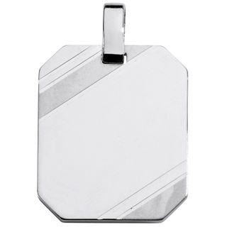 Basic Silber SL29 Herren Anhänger Gravurplatte Silber
