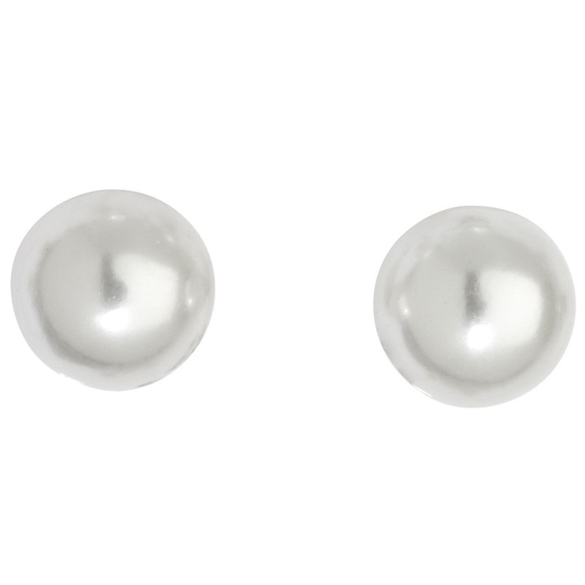 Basic Silber SO12 Damen Silber Ohrstecker Ohrschmuck Weiß