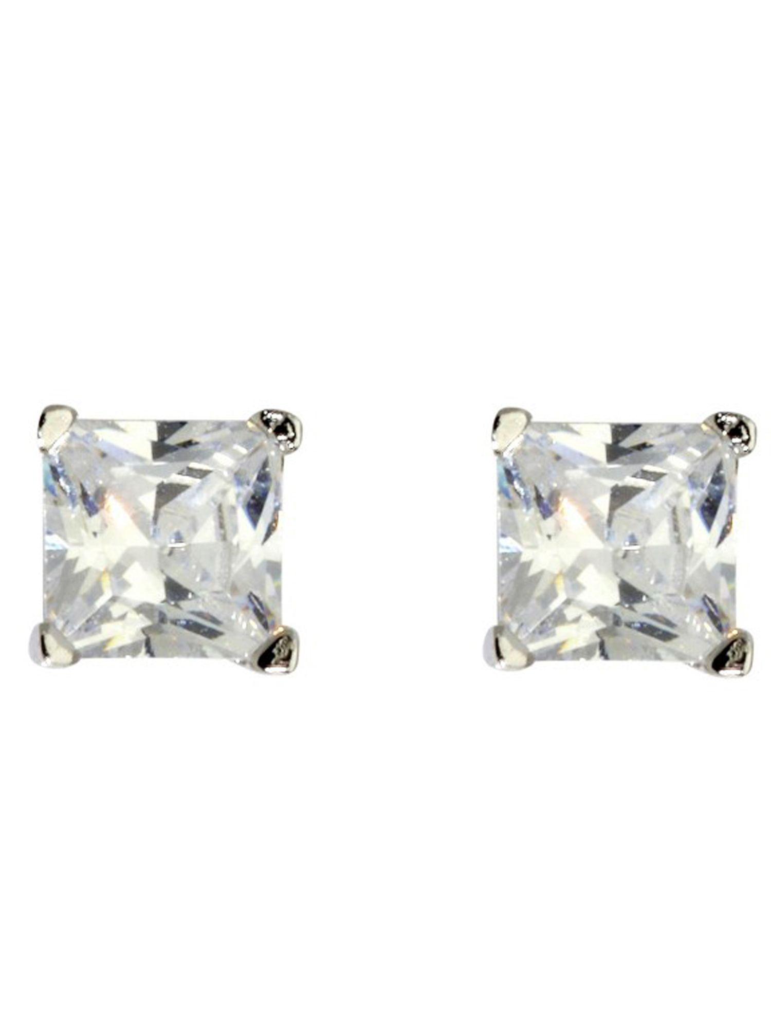 Basic Silber SO16 Damen Silber Ohrstecker Ohrschmuck Weiß