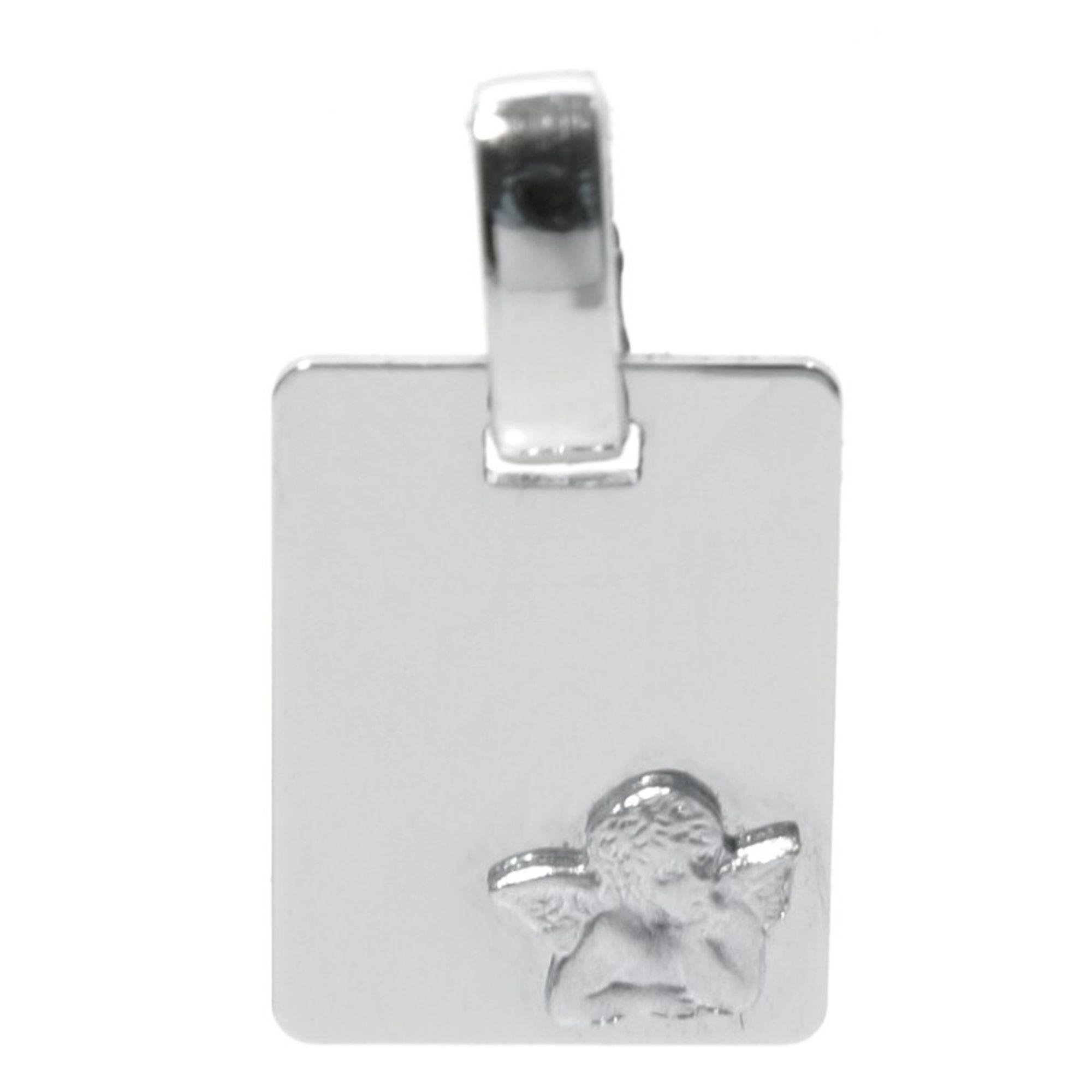 Basic Silber STG40 Kinder Anhänger Schutzengel Silber