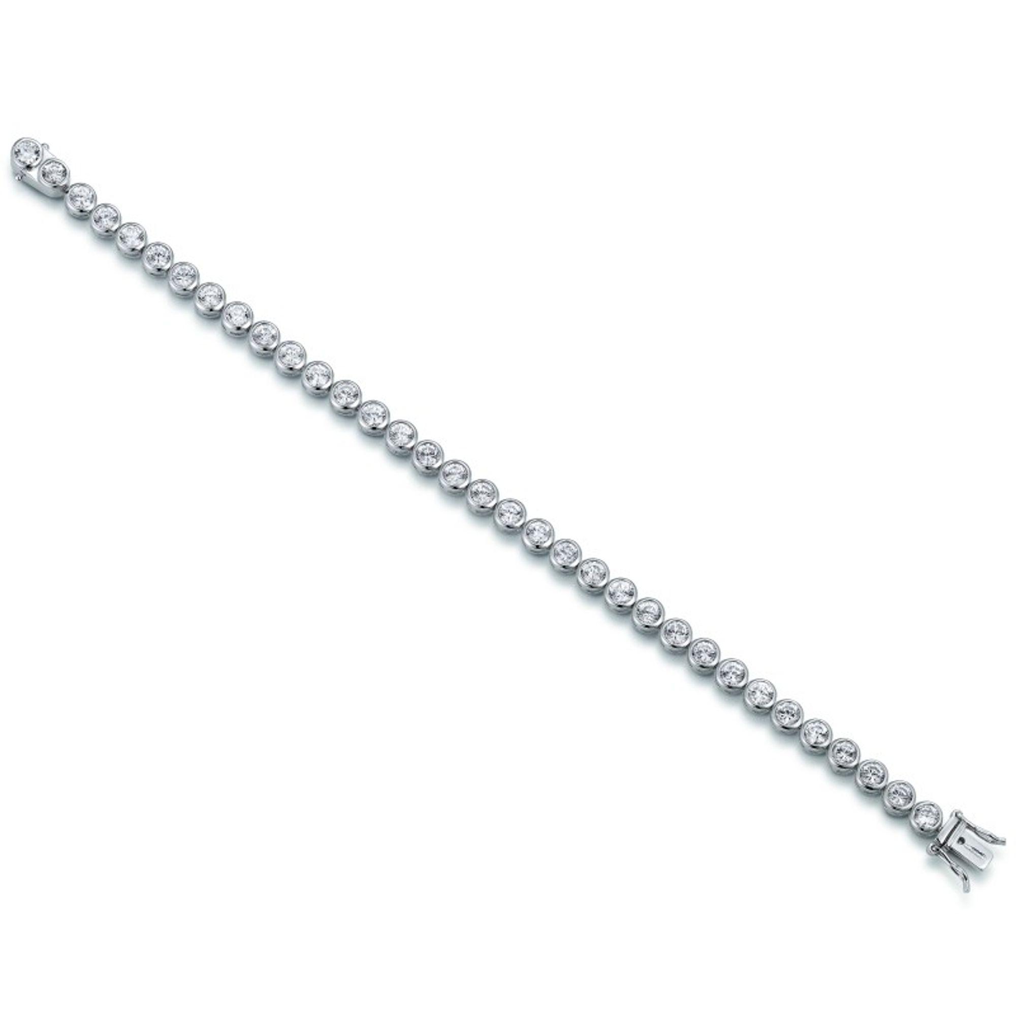 GOOIX 914-1036 Damen Armband Silber Zirkonia Weiß 17 cm