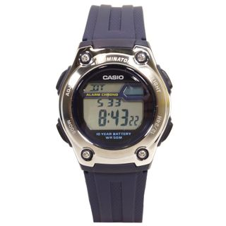 CASIO W-211-2AVES Uhr Herrenuhr Resin Datum Alarm Digital blau