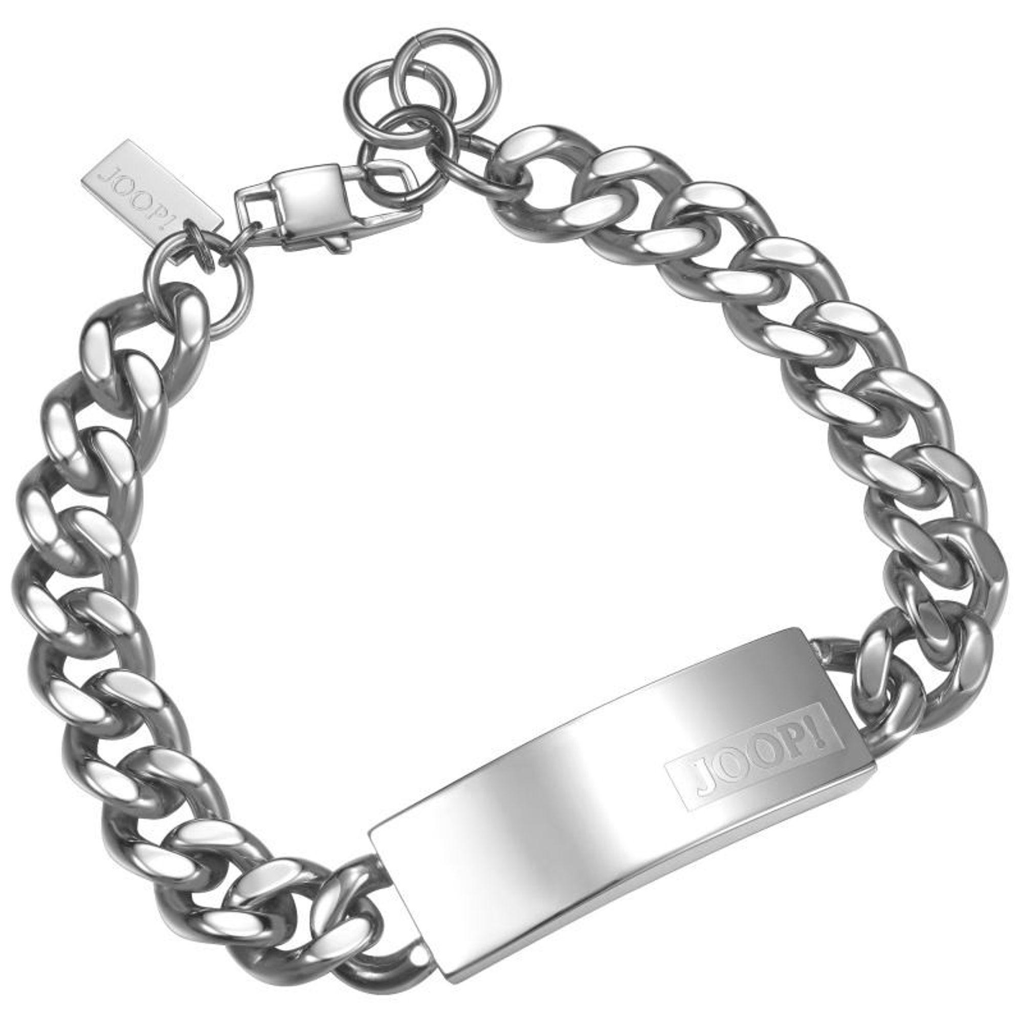 Joop JPBR10616A215 Herren Gravur-Armband Logo Signature Stahl 23,5 cm