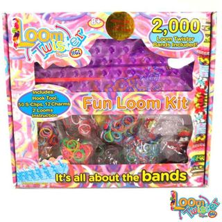LOOM TWISTER Fun Set 2000 Bandz bands Loomis Bänder SV11755