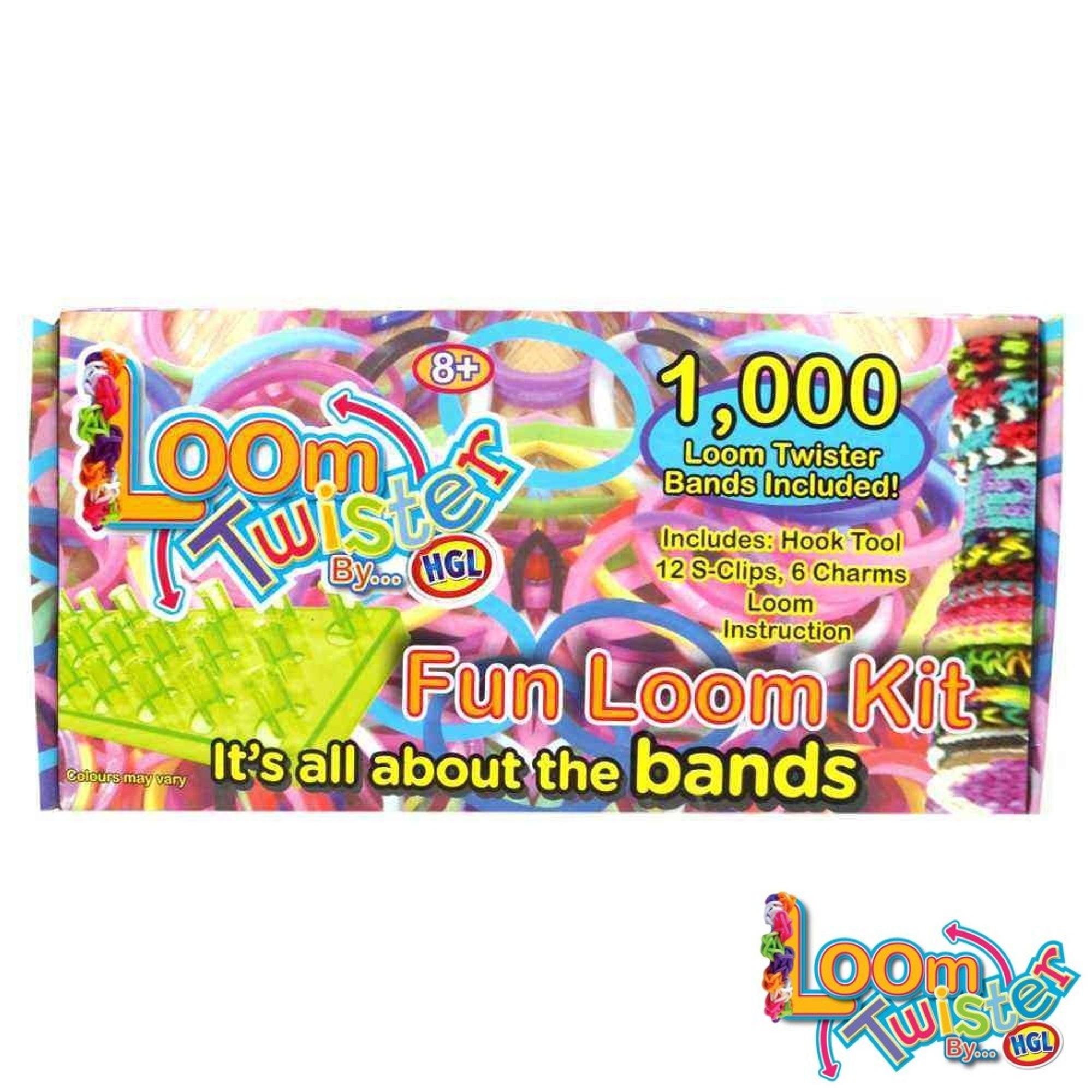 LOOM TWISTER Fun Set 1000 Bandz bands Loomis Bänder SV11757