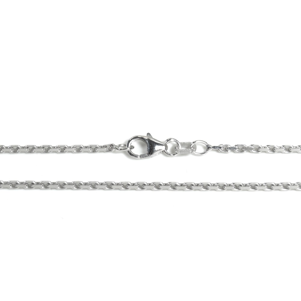 Basic Silber AN01.60.55R Kette Anker Unisex Halskette Silber 55 cm