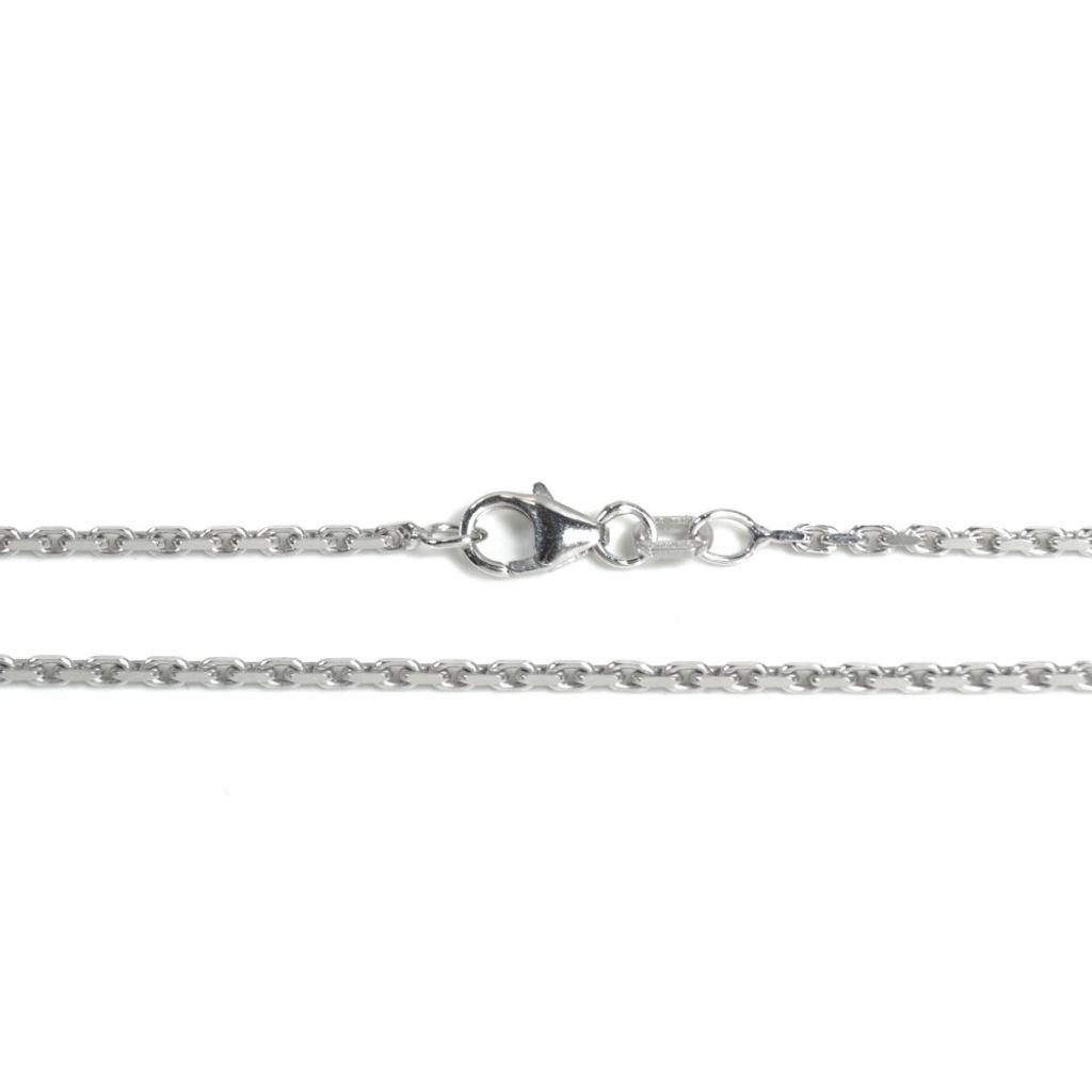Basic Silber AN01.60.60R Kette Anker Unisex Halskette Silber 60 cm