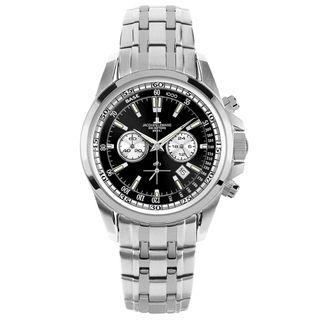 Jacques Lemans 1-1117EN LIVERPOOL Chrono Uhr Herrenuhr Stahl schwarz