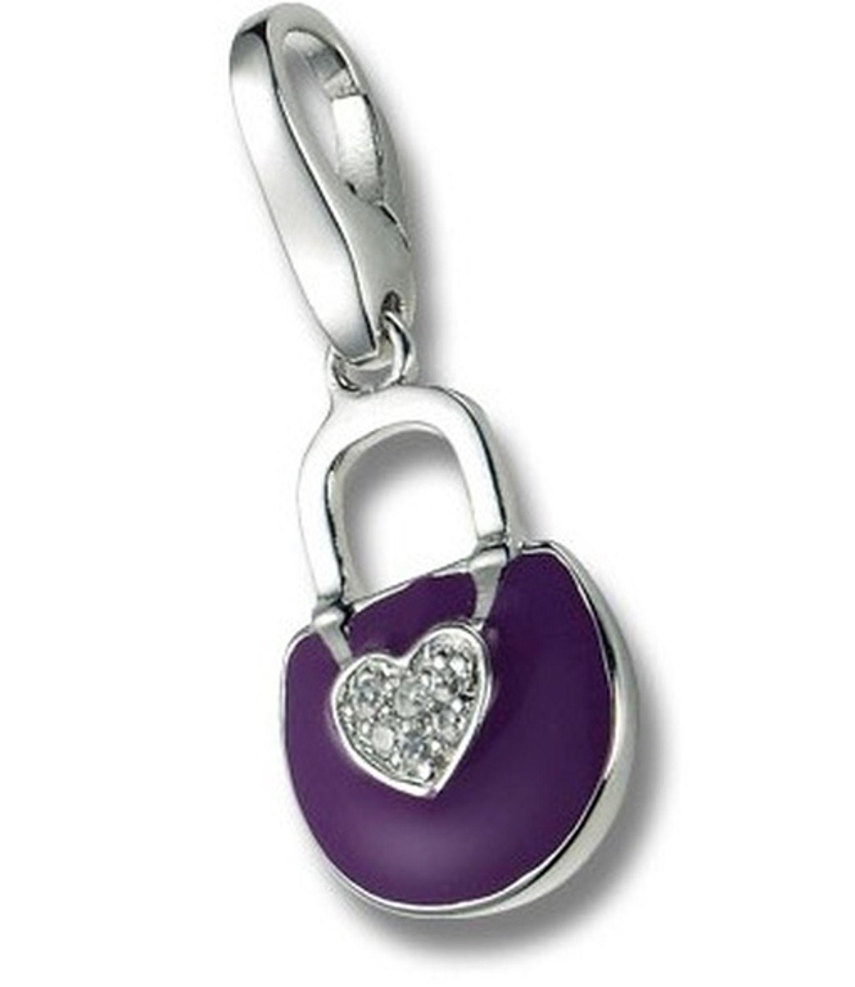 Giorgio Martello 356-806949 Charms Damen Charm Silber Tasche violett