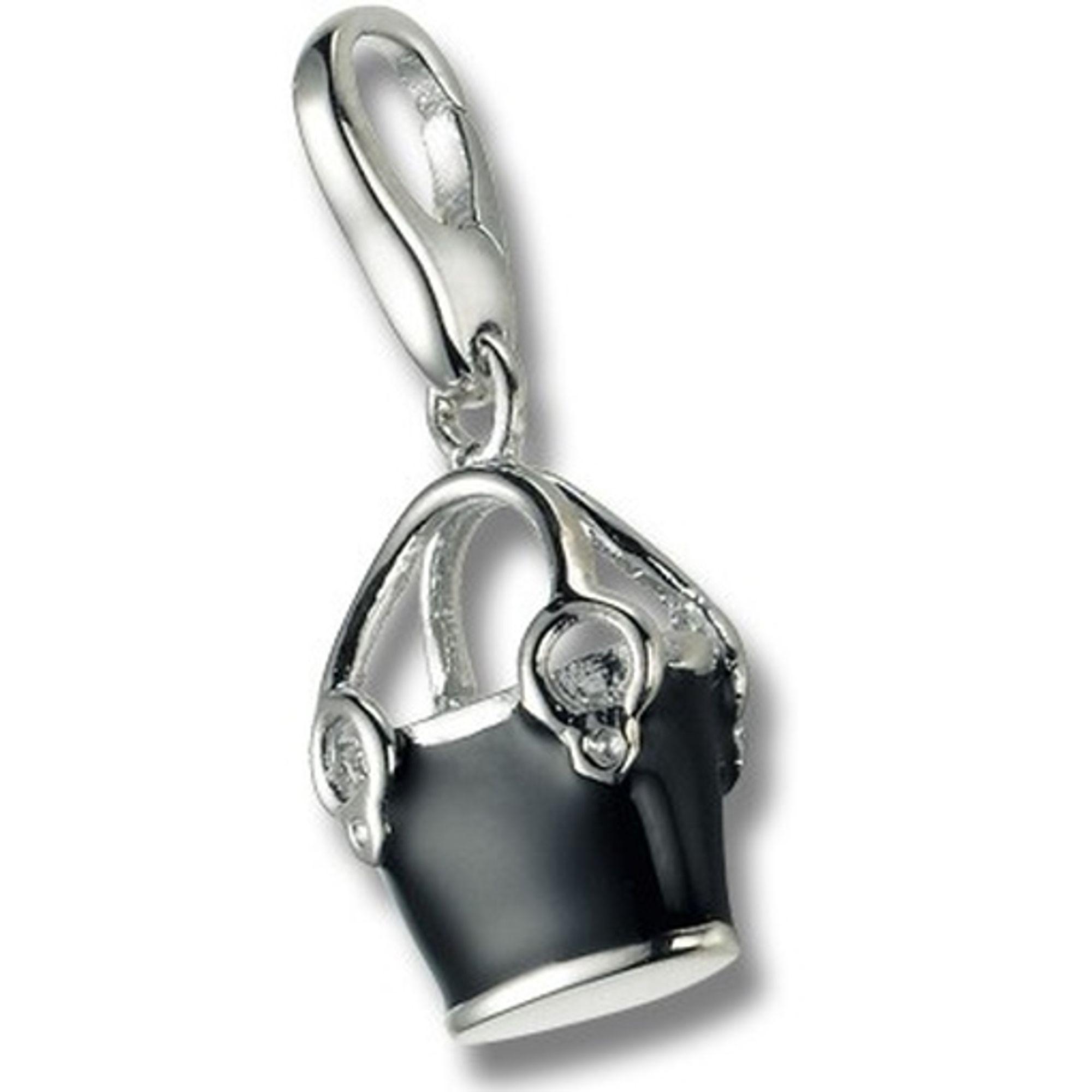 Giorgio Martello 349-807609 Charms Damen Charm Silber Tasche schwarz