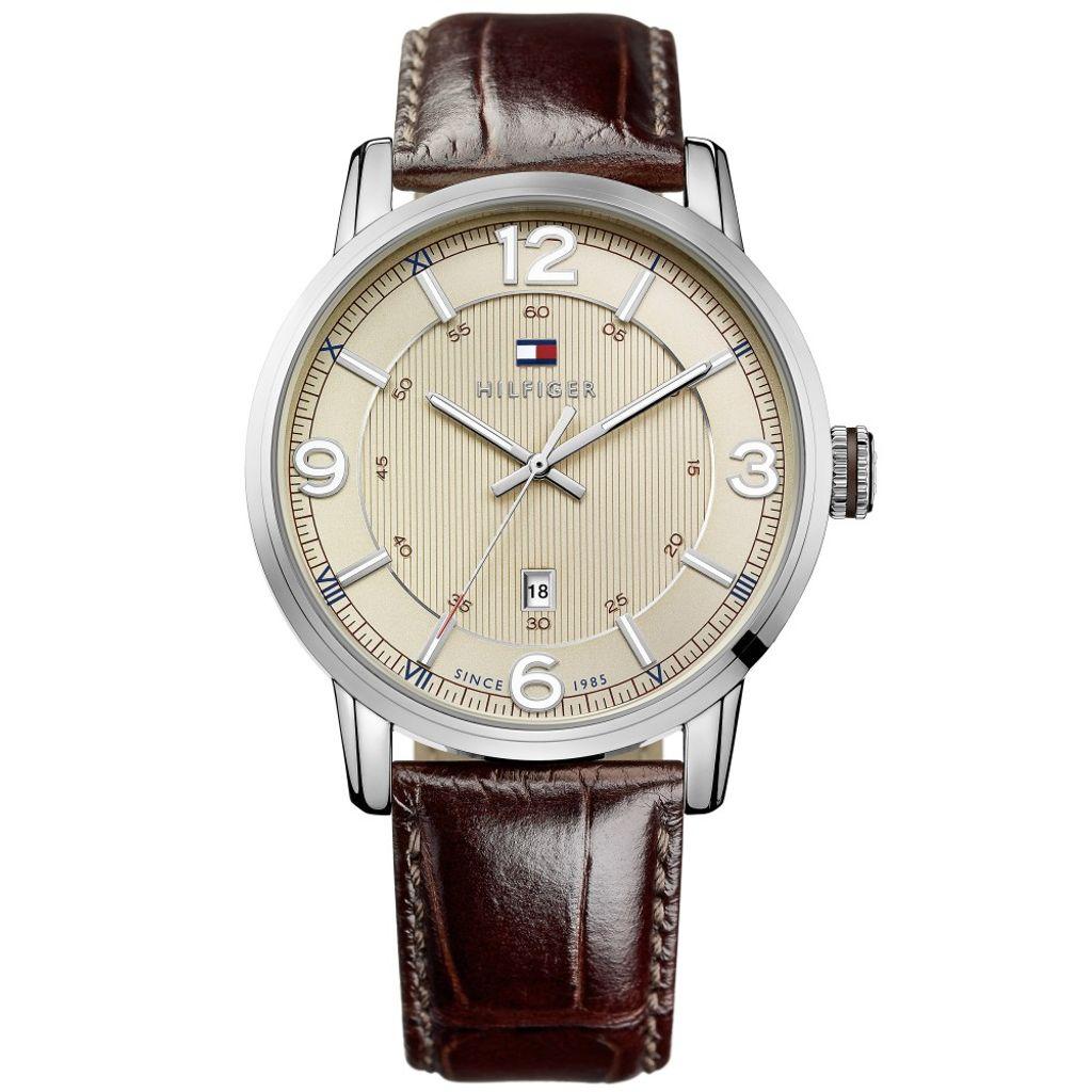 Tommy Hilfiger 1710343 GEORGE Uhr Herrenuhr Lederarmband braun