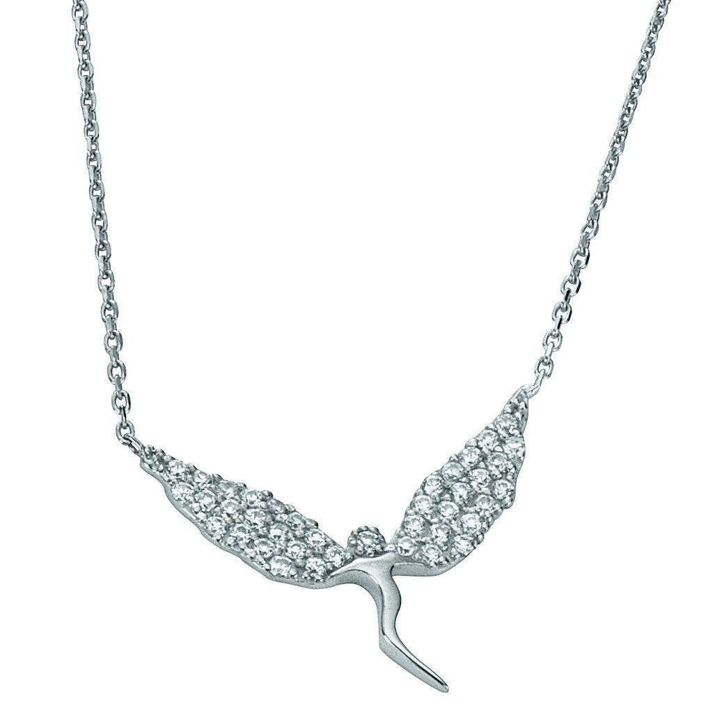 Basic Silber 11.EX101 Damen Collier Elfe Silber Zirkonia weiß 44 cm