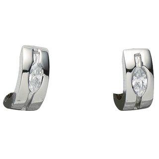Basic Silber 05.2031 Damen Creolen Silber Zirkonia weiß