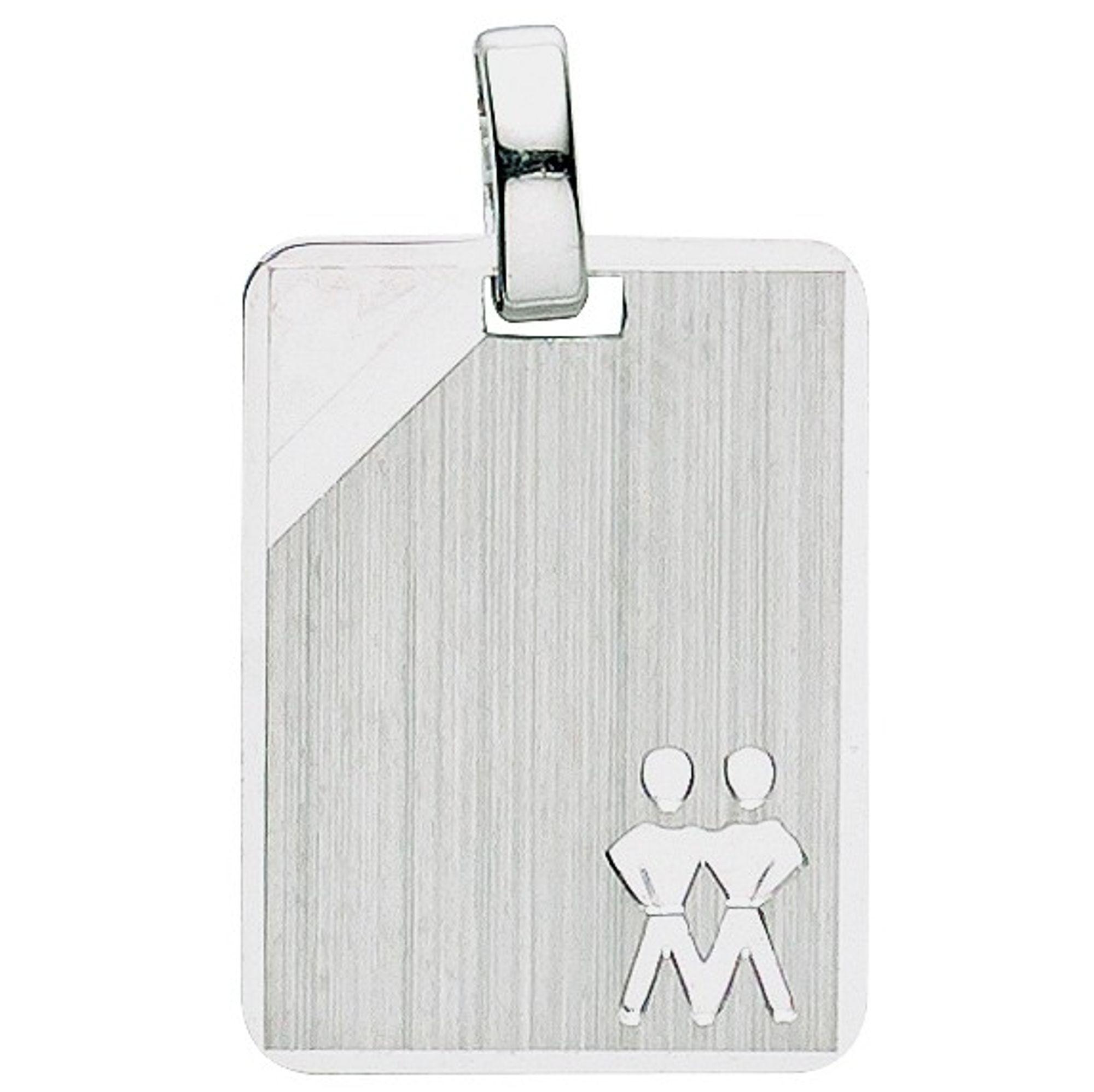 Basic Silber 24.9017SZW Herren Anhänger Sternzeichen Zwilling Silber