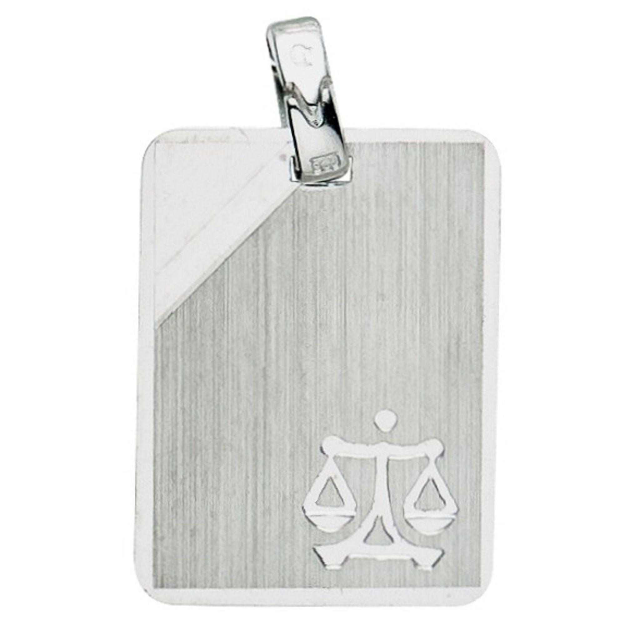 Basic Silber 24.9017SWA Herren Anhänger Sternzeichen Waage Silber
