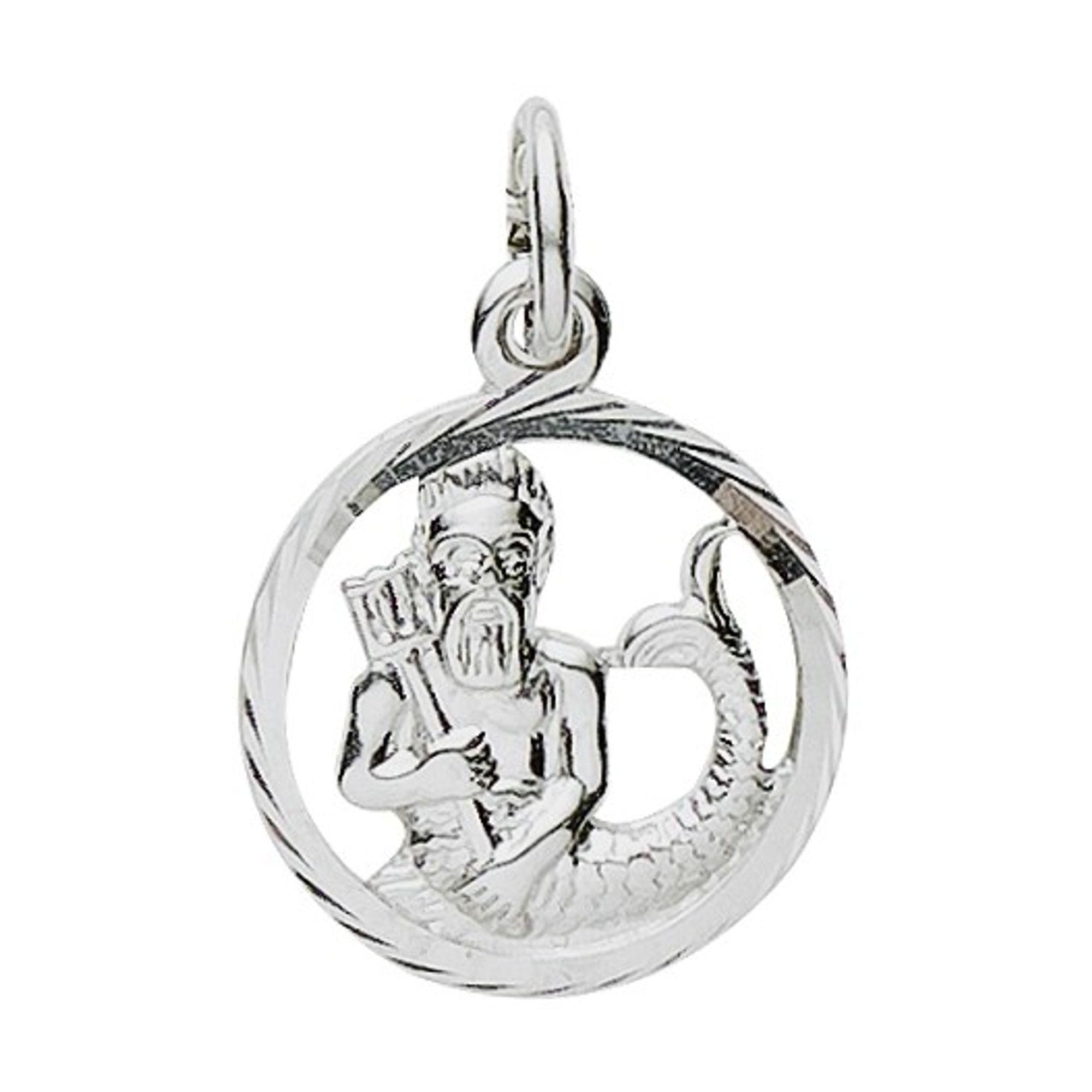 Basic Silber 24.9019SWM Damen Anhänger Sternzeichen Wassermann Silber