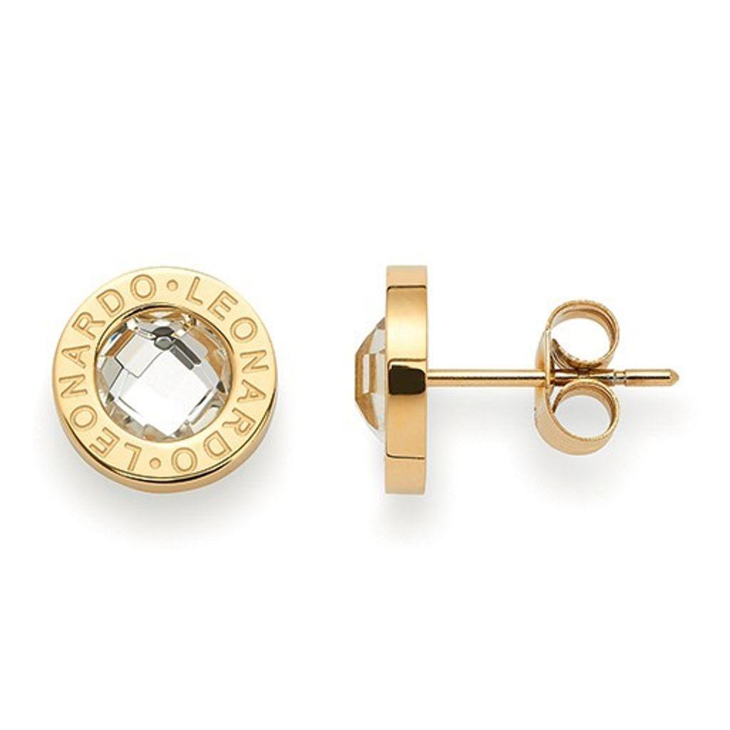 Leonardo 015568 Damen Ohrstecker Matrix gold Edelstahl weiß
