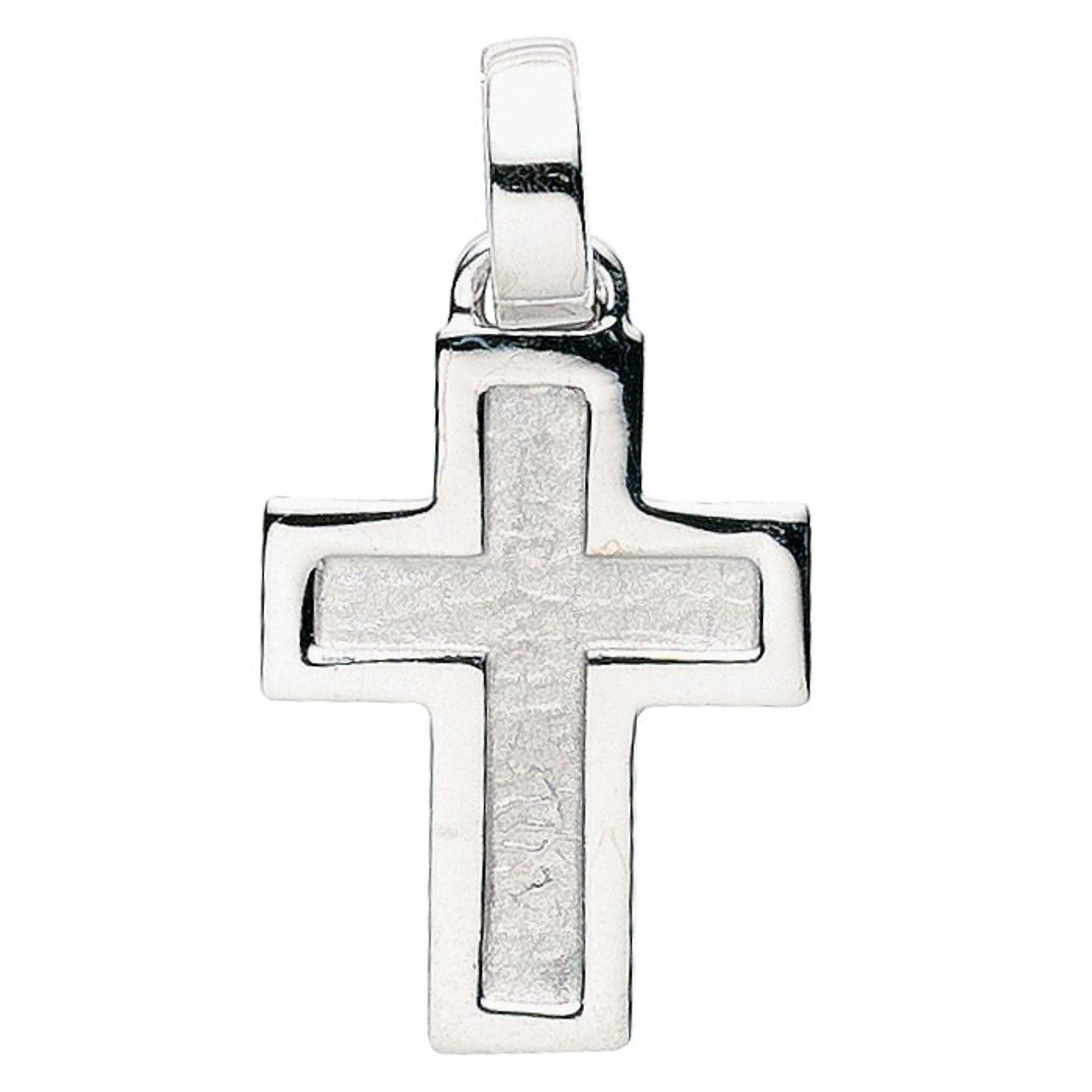 Basic Silber 27.0014S Herren Anhänger Kreuz Silber