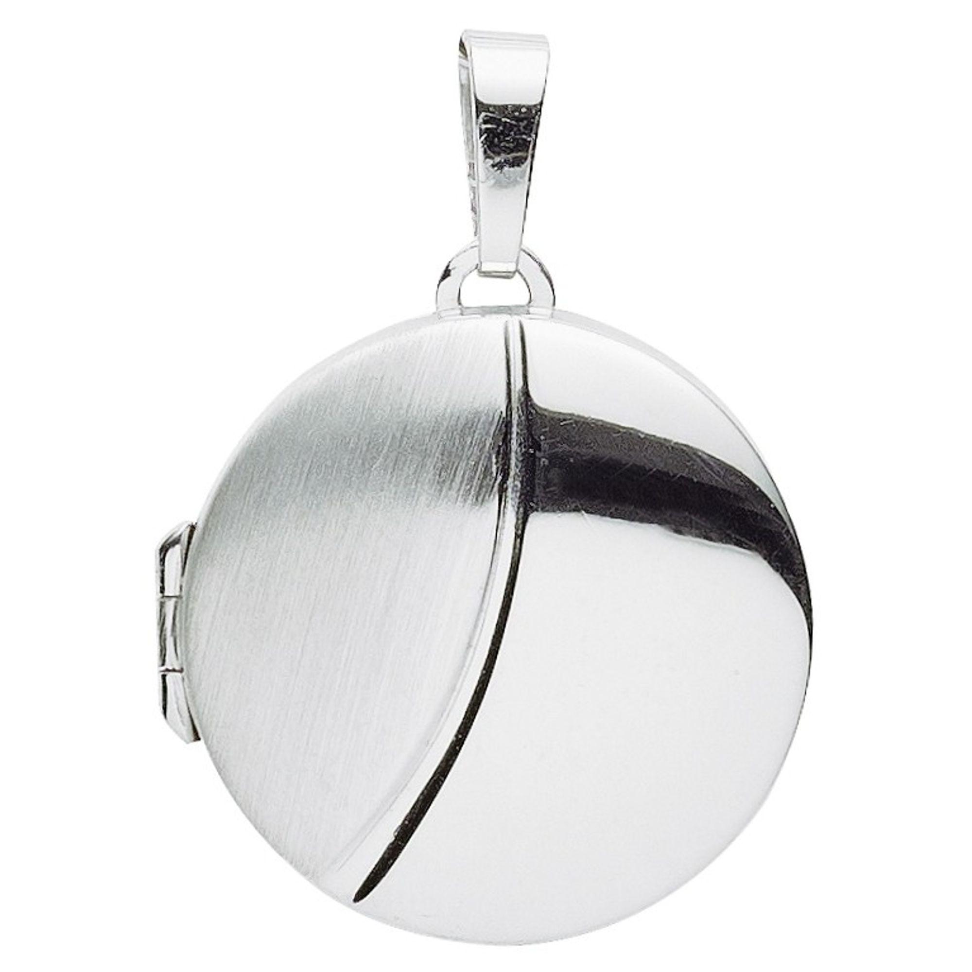 Basic Silber 26.0114 Damen Anhänger Medaillon Silber