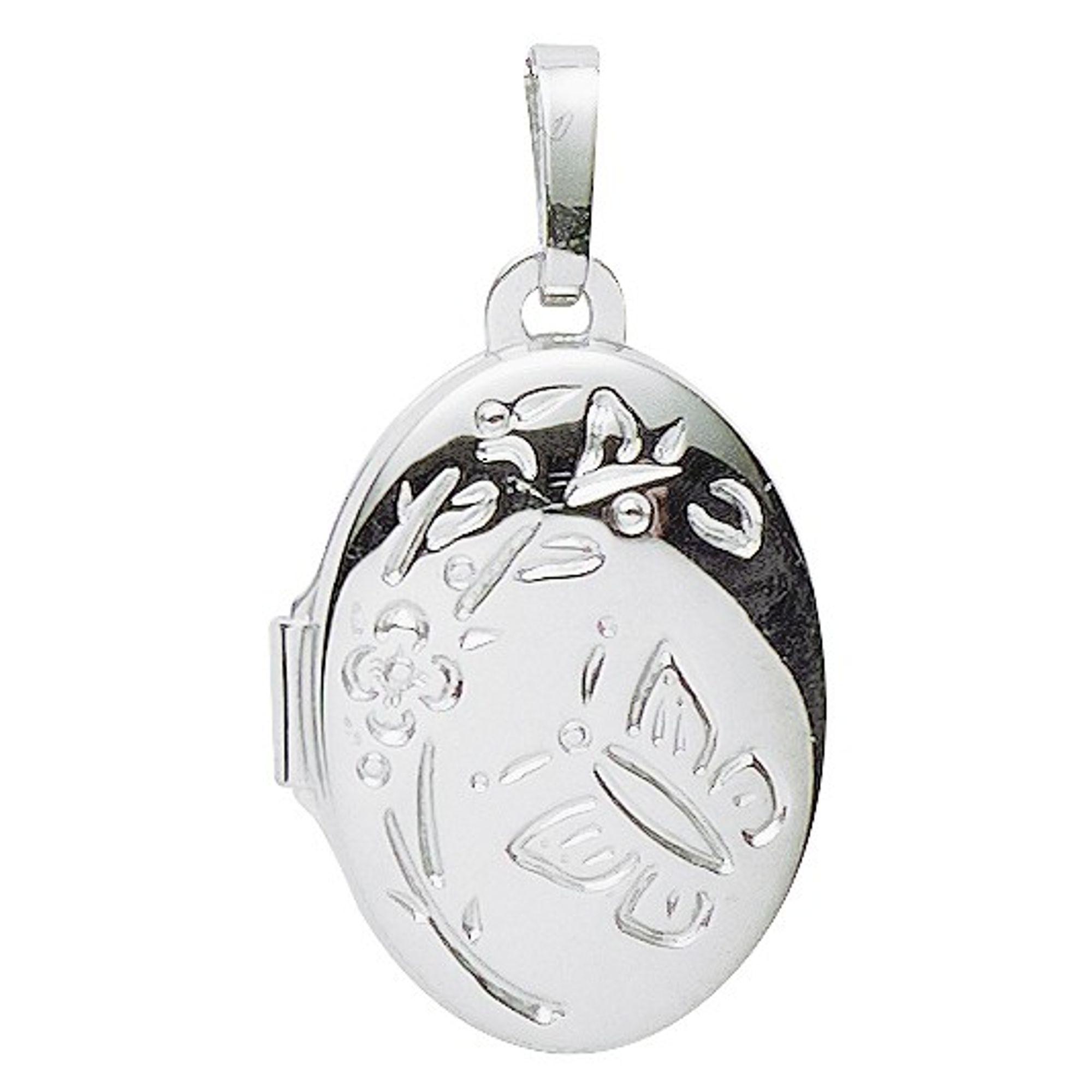 Basic Silber 26.0121 Damen Anhänger Medaillon Silber