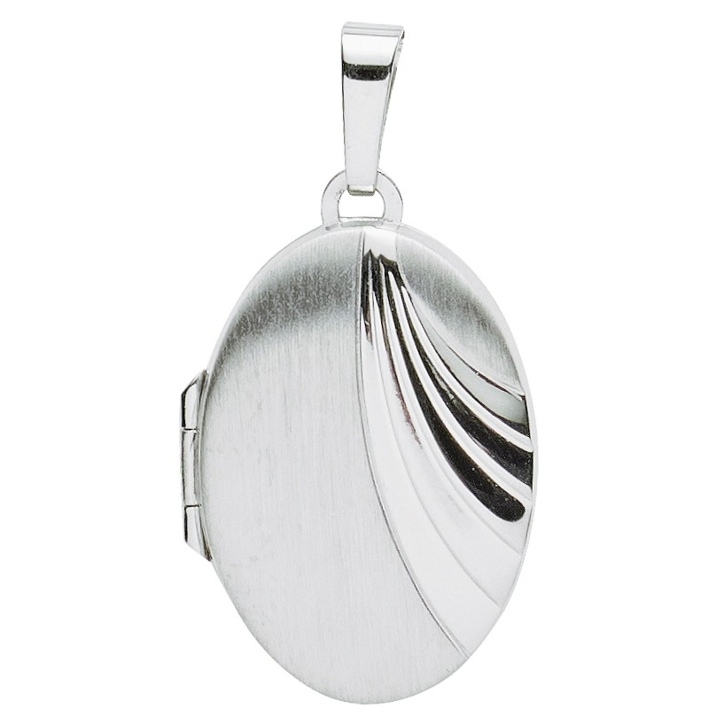 Basic Silber 26.0109 Damen Anhänger Medaillon Silber
