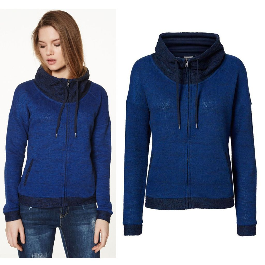 Vero Moda Sweatjacke 10128341 JANE L/S Highneck Zip Sweat Blau Gr. XS