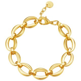 Esprit Damen Armband ES-PURE LINKS GOLD Edelstahl 20 cm