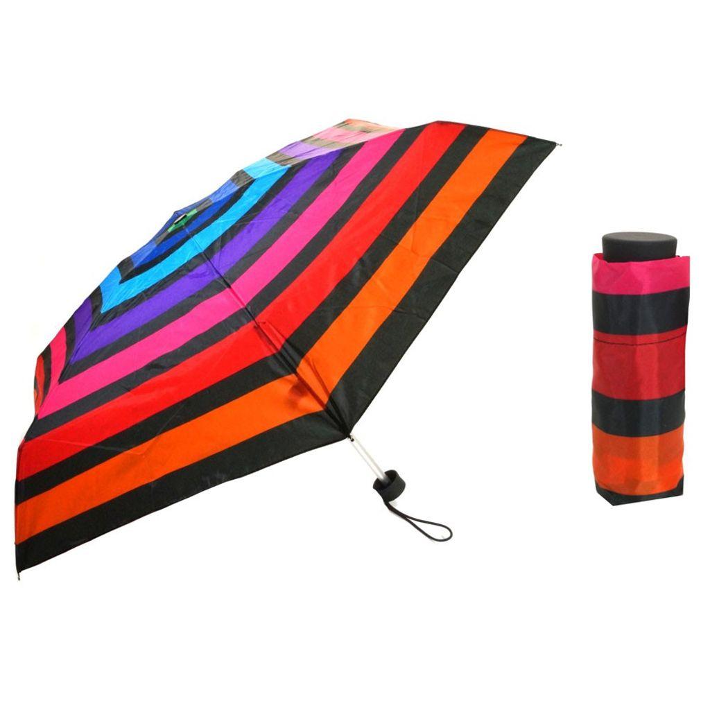 Flash Ultra Mini Flash printed mulitcolor stripe Regenschirm
