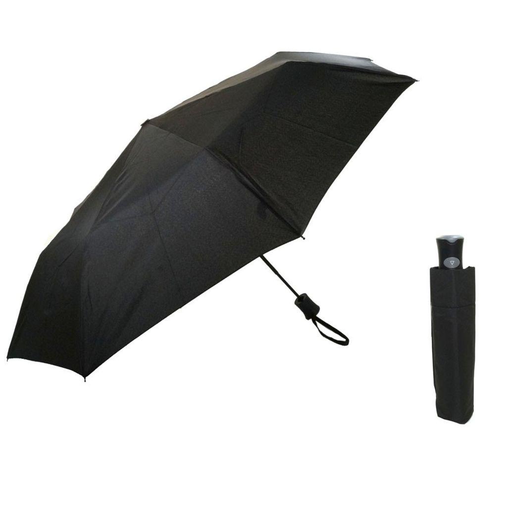 Flash MINI AC Flash solid Schwarz Regenschirm Taschenschirm