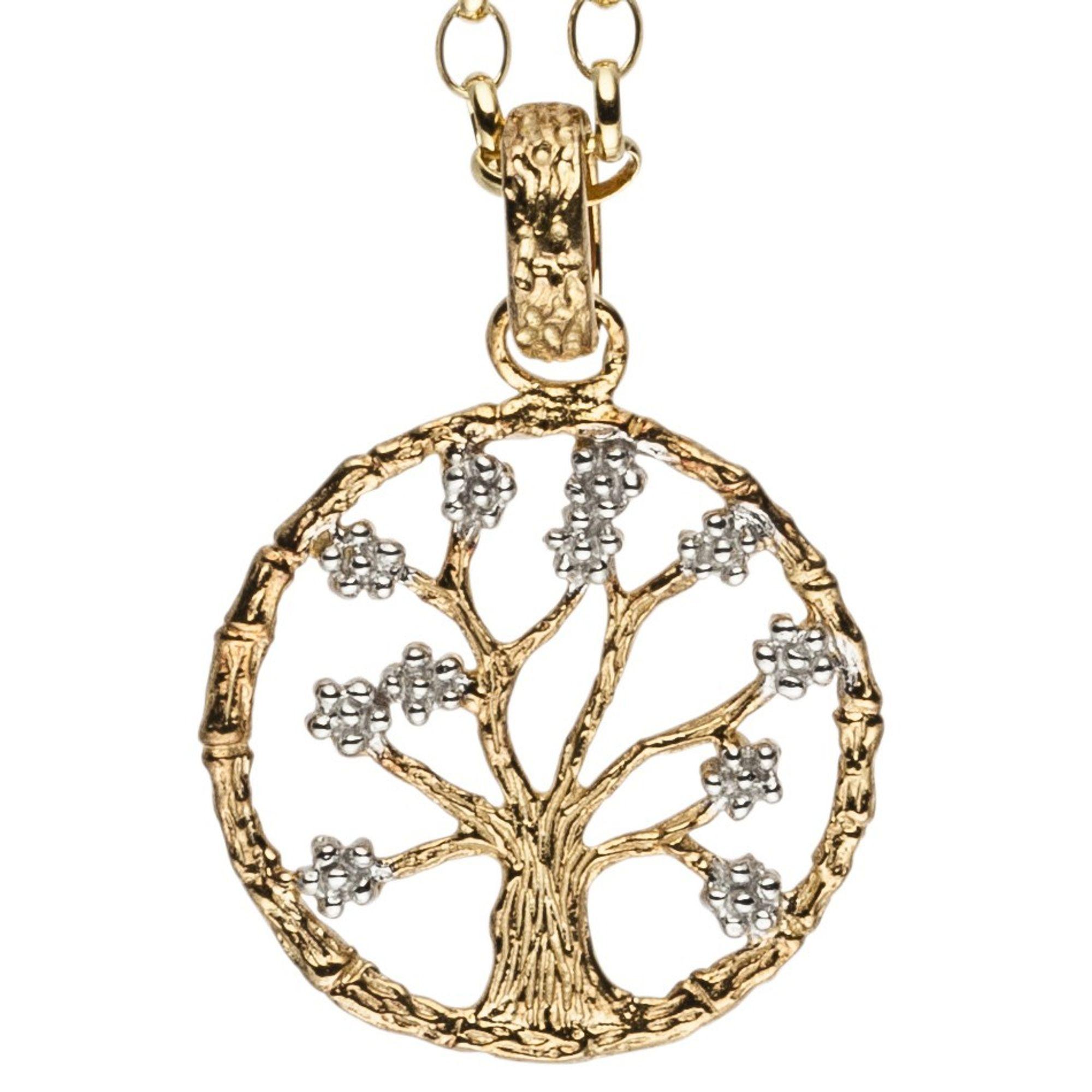 Julie Julsen® Damen Anhänger Lebensbaum gold Baum des Lebens