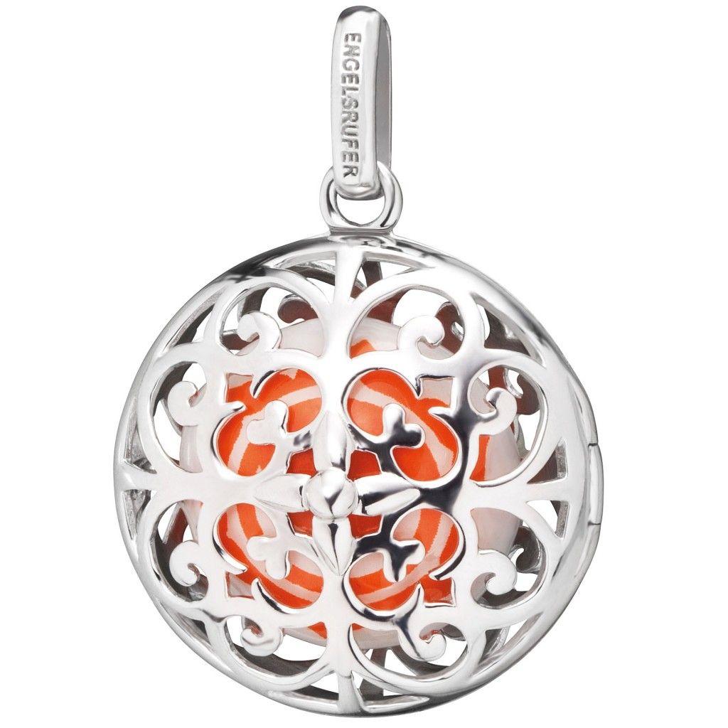 Engelsrufer Damen Anhänger Sakralchakra Silber orange