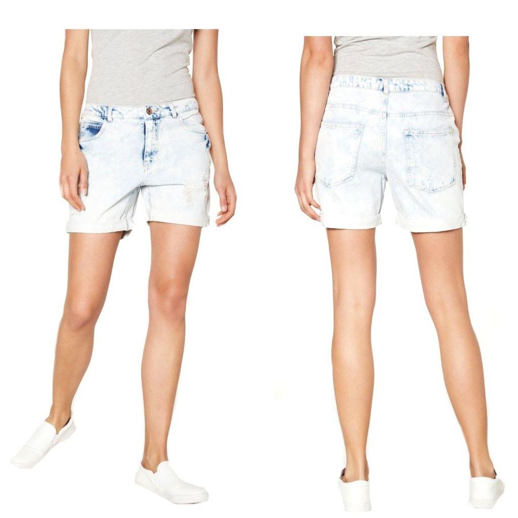 Vero Moda Damen Jeans Shorts ADELE LW Loose Shorts Blau Gr. 34