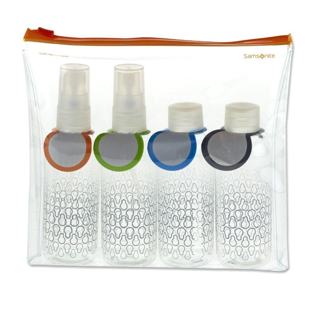 Samsonite 45536-1212 Toiletry Bottle Set Orange Handgepäck-Flaschenset
