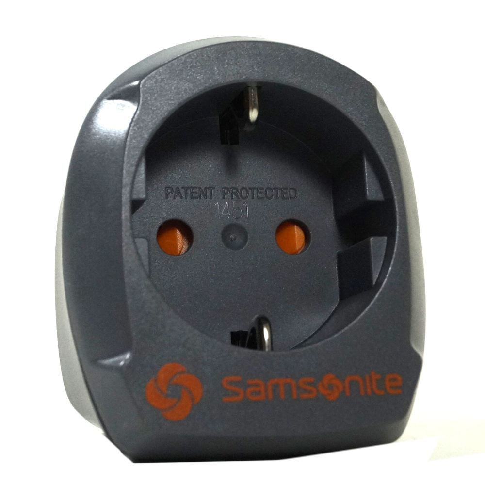 Samsonite 61605-1374 Europe/UK Adaptor 2 Grau Adapter