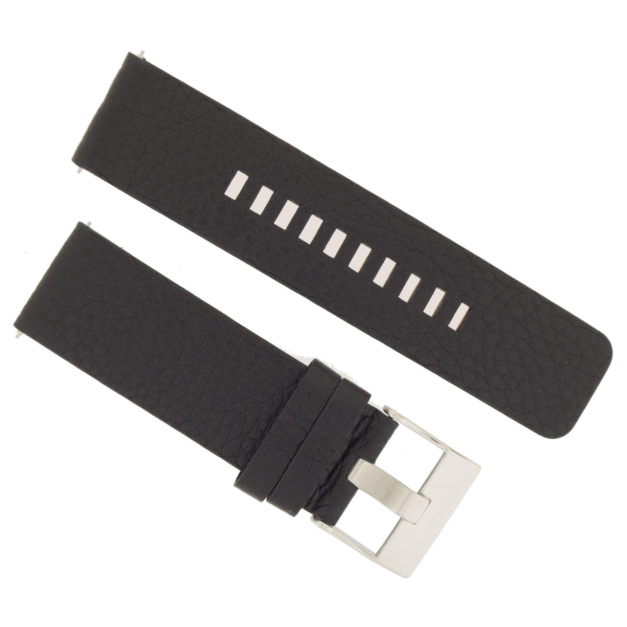 Diesel Uhrenarmband DZ4320 Original Ersatzband Leder 26 mm Schwarz