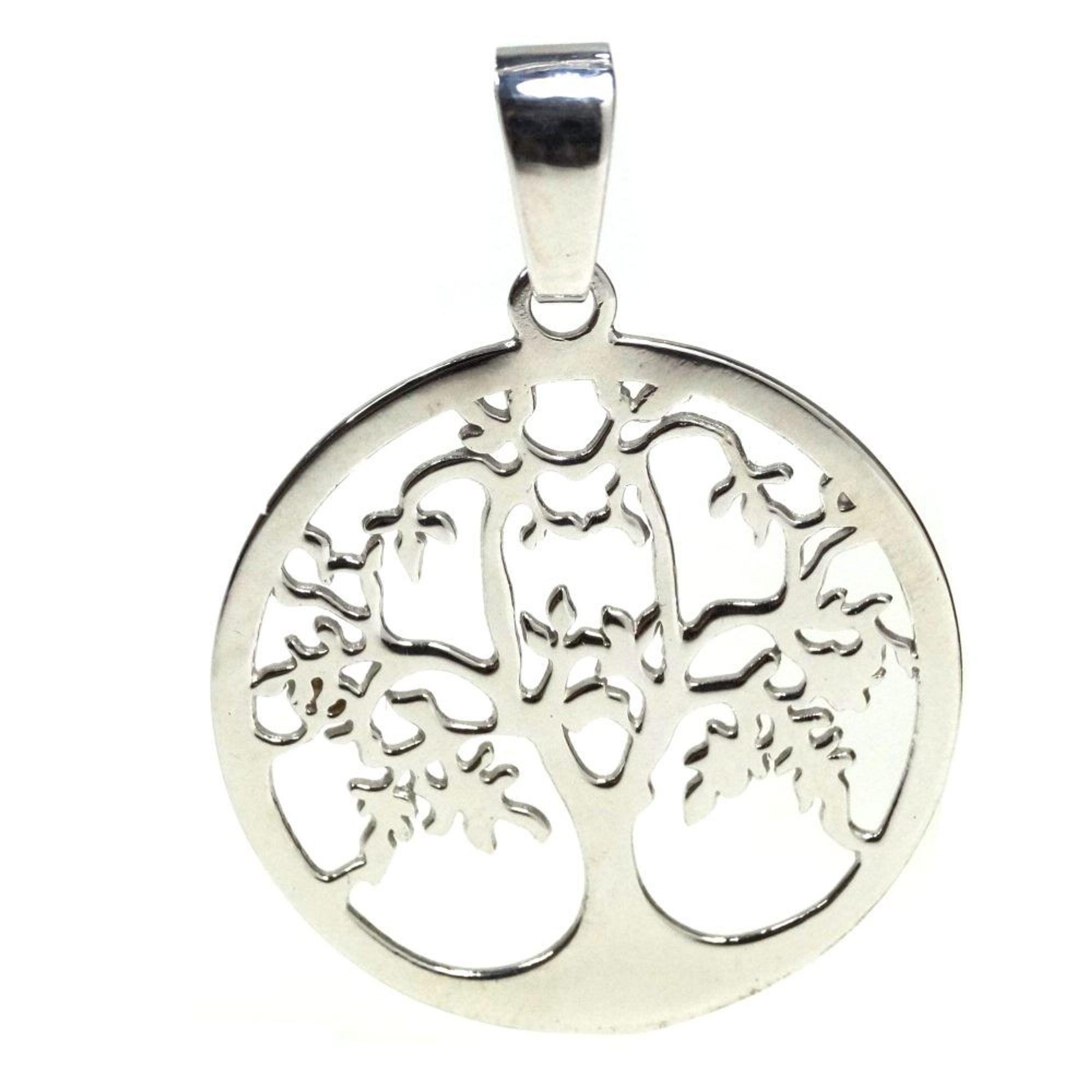 Basic Silber 21.EX901 Damen Anhänger Lebensbaum Silber