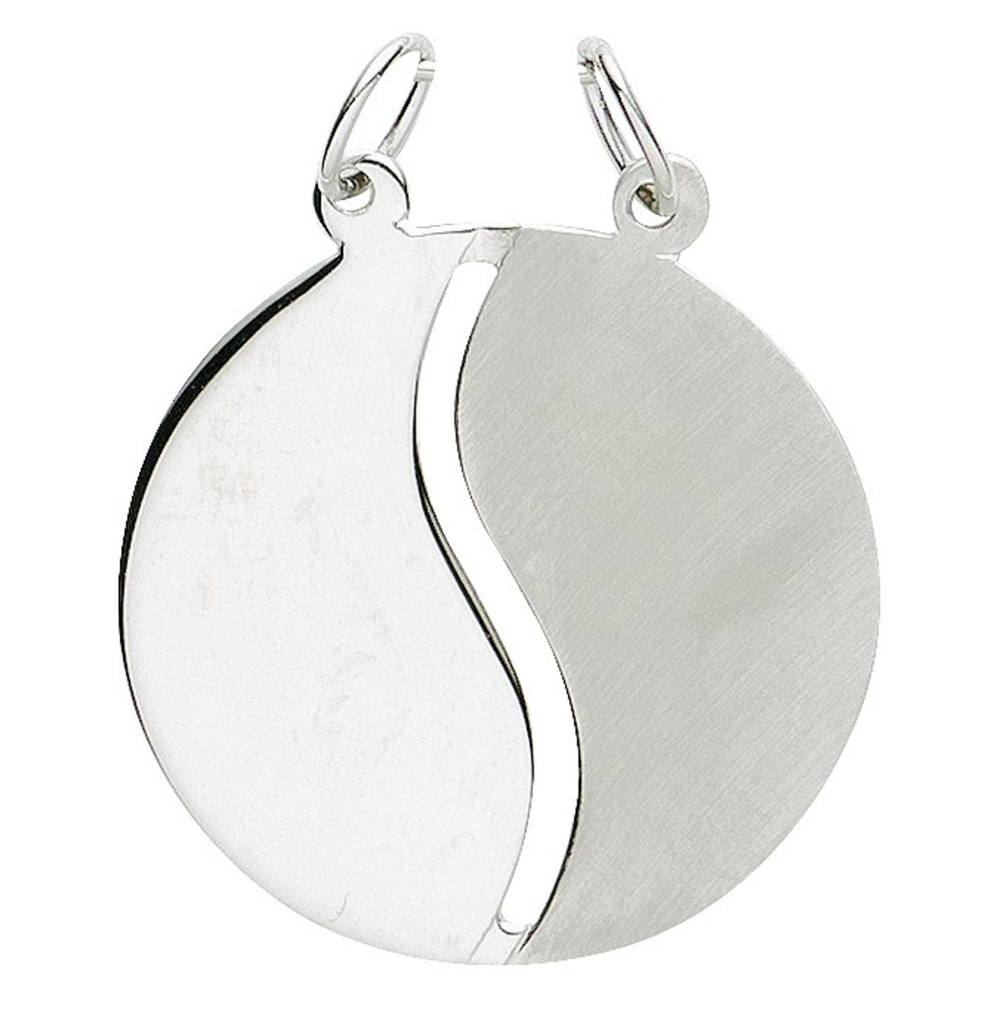 Basic Silber 29.1067S Damen Anhänger Partneranhänger Silber
